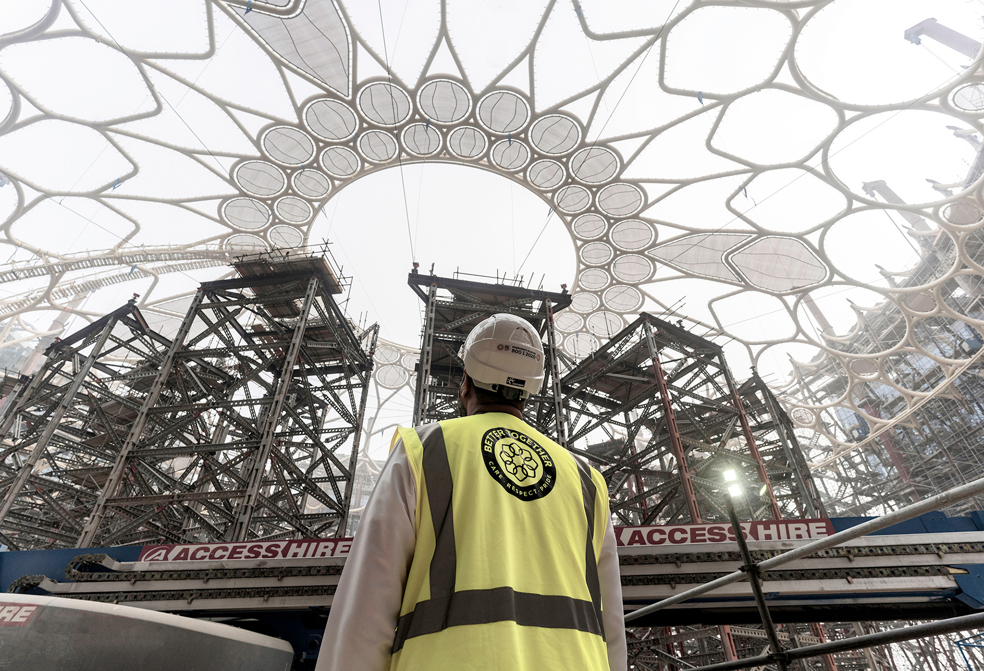Dome being held in place | Al Wasl Dome|Expo 2020| Dubai| STIRworld