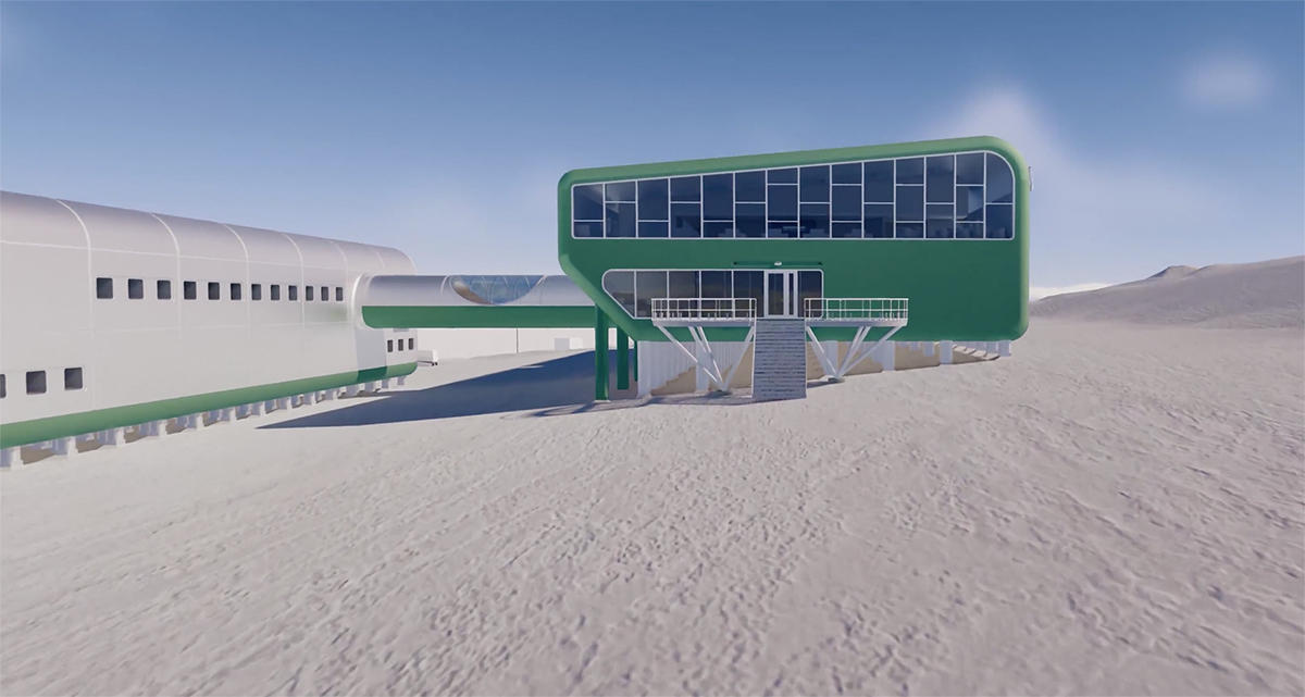 A fly through the new proposed Scott Base | Scott Base Redevelopment | Hugh Broughton Architects and Jasmax | STIRworld