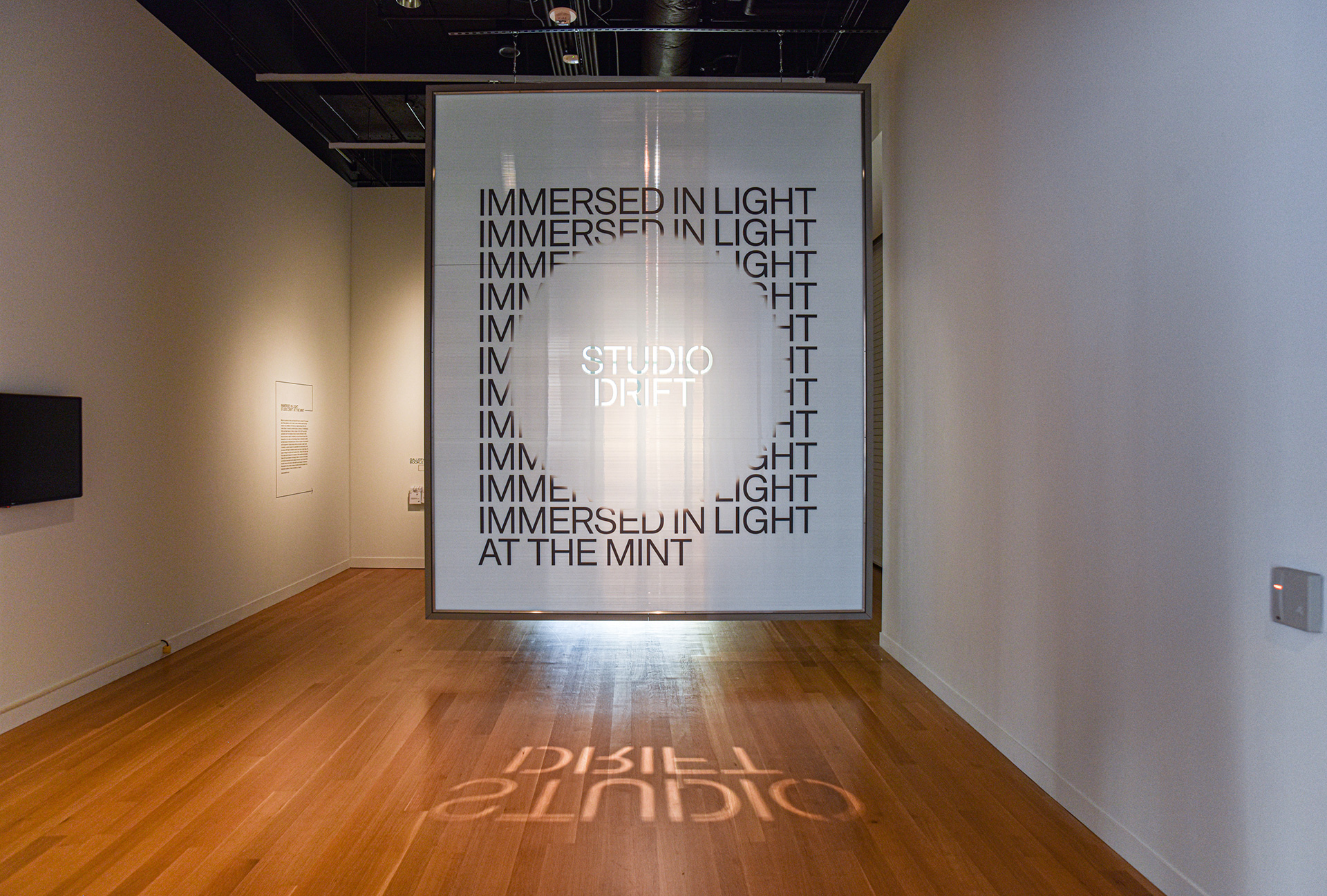Studio Drift. 2019, installation at the Mint Museum, Charlotte, North Carolina | Immersed in Light | Studio Drift | The Mint Museum | STIRworld