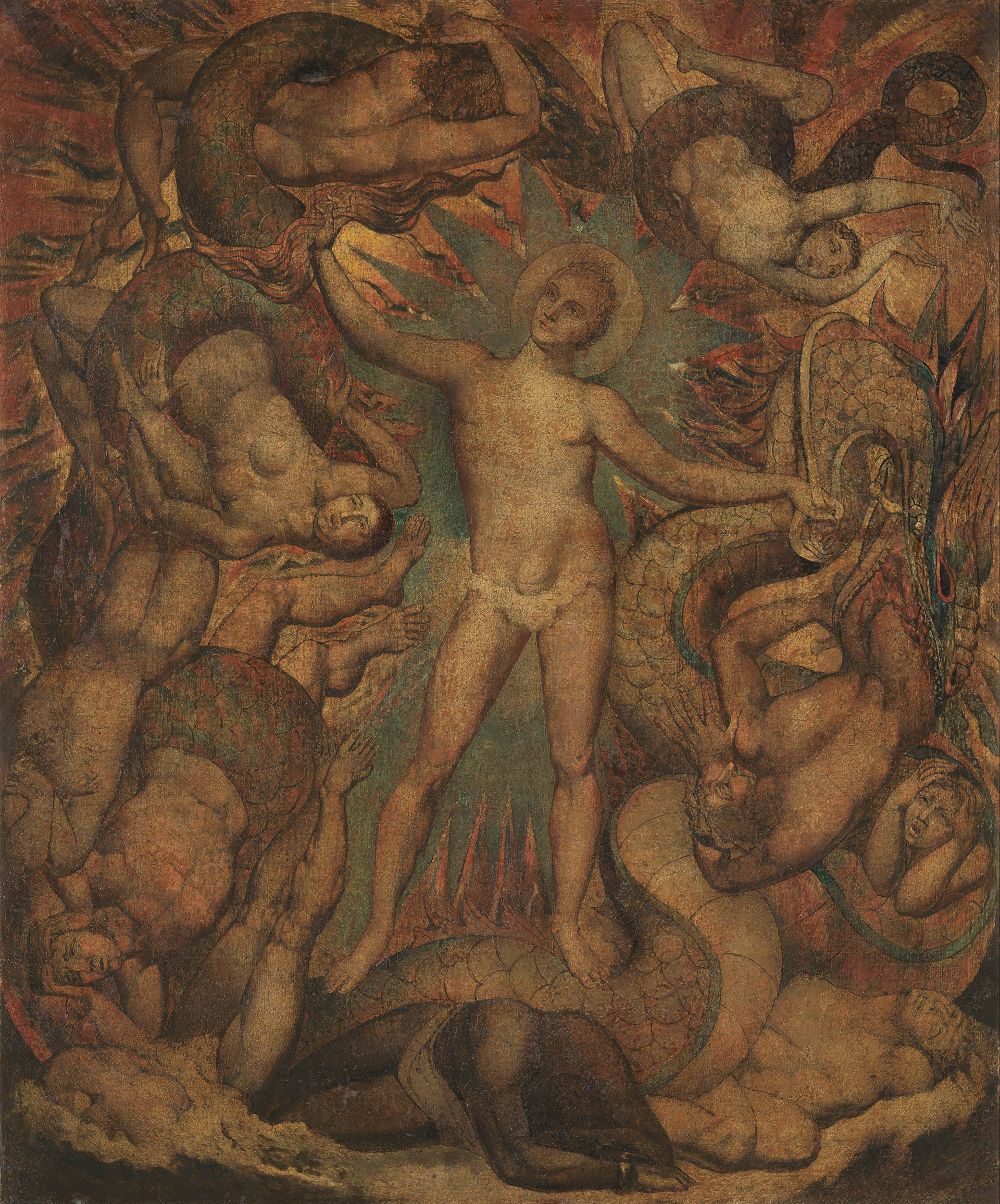 William Blake, The Spiritual Form of Nelson Guiding Leviathan (c.1805-9) | Largest survey show of work by William Blake | STIRworld