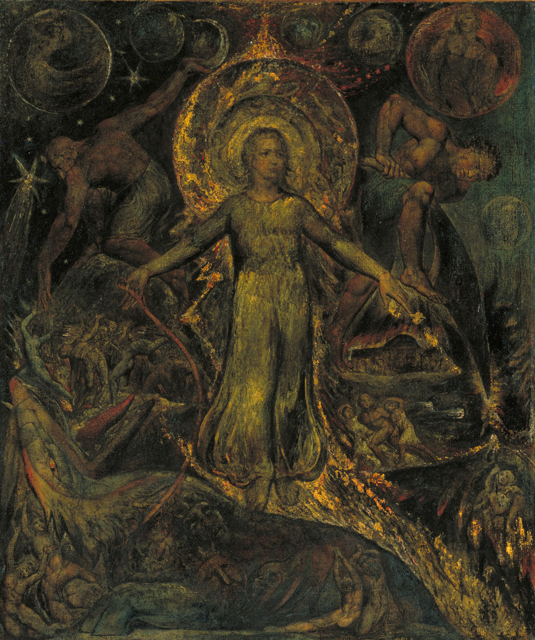 William Blake, The Spiritual Form of Pitt Guiding the Behemoth, 1805| Largest survey show of work by William Blake | STIRworld