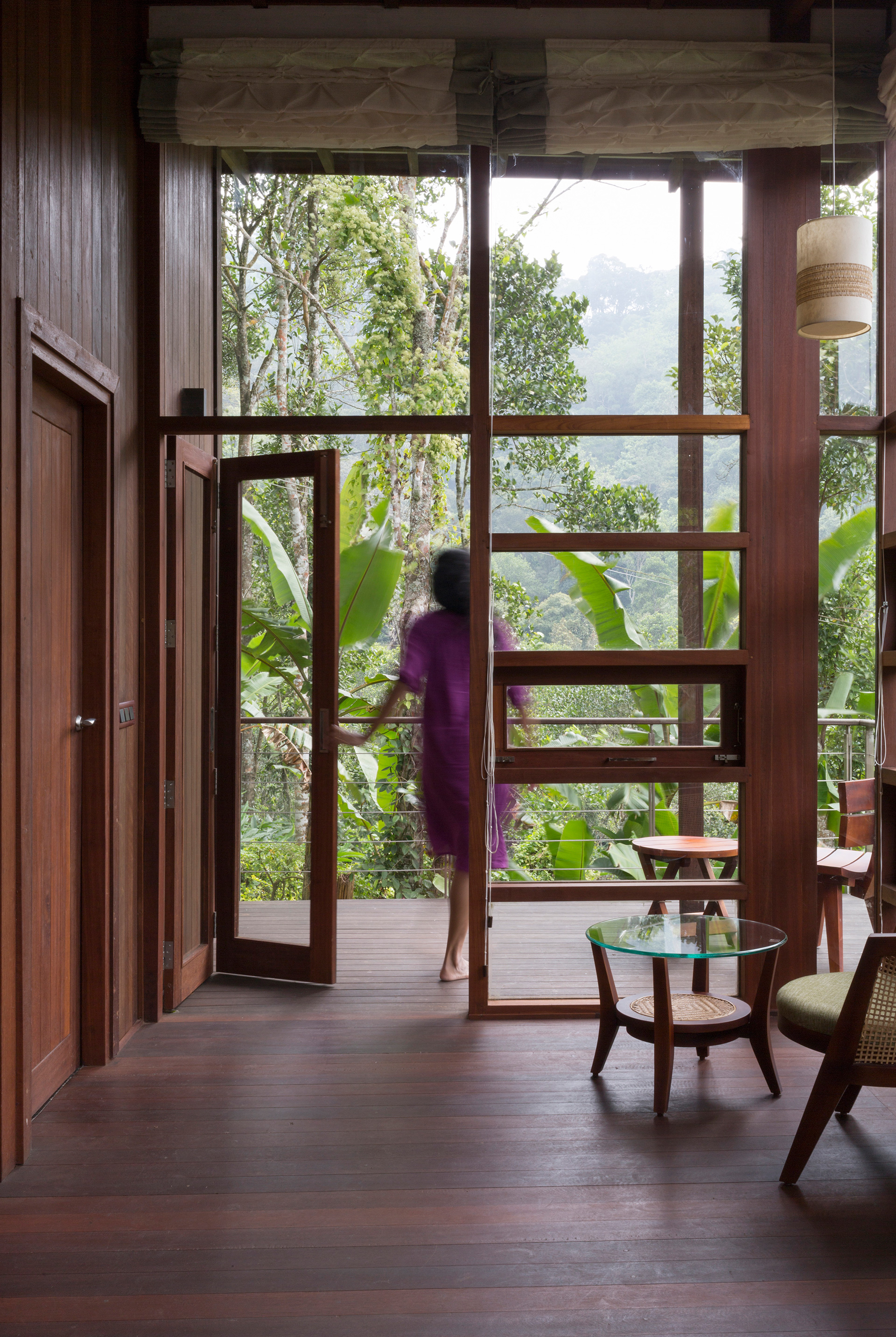 External façade of the cabin extending out to the deck | Cardomom Club| Kumar La Noche | Kerala | India | STIRworld