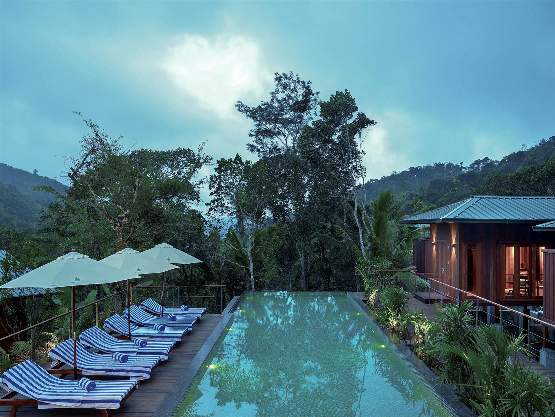 View of the spa and pool area overlooking the valley | Cardomom Club| Kumar La Noce | Kerala | India | STIRworld