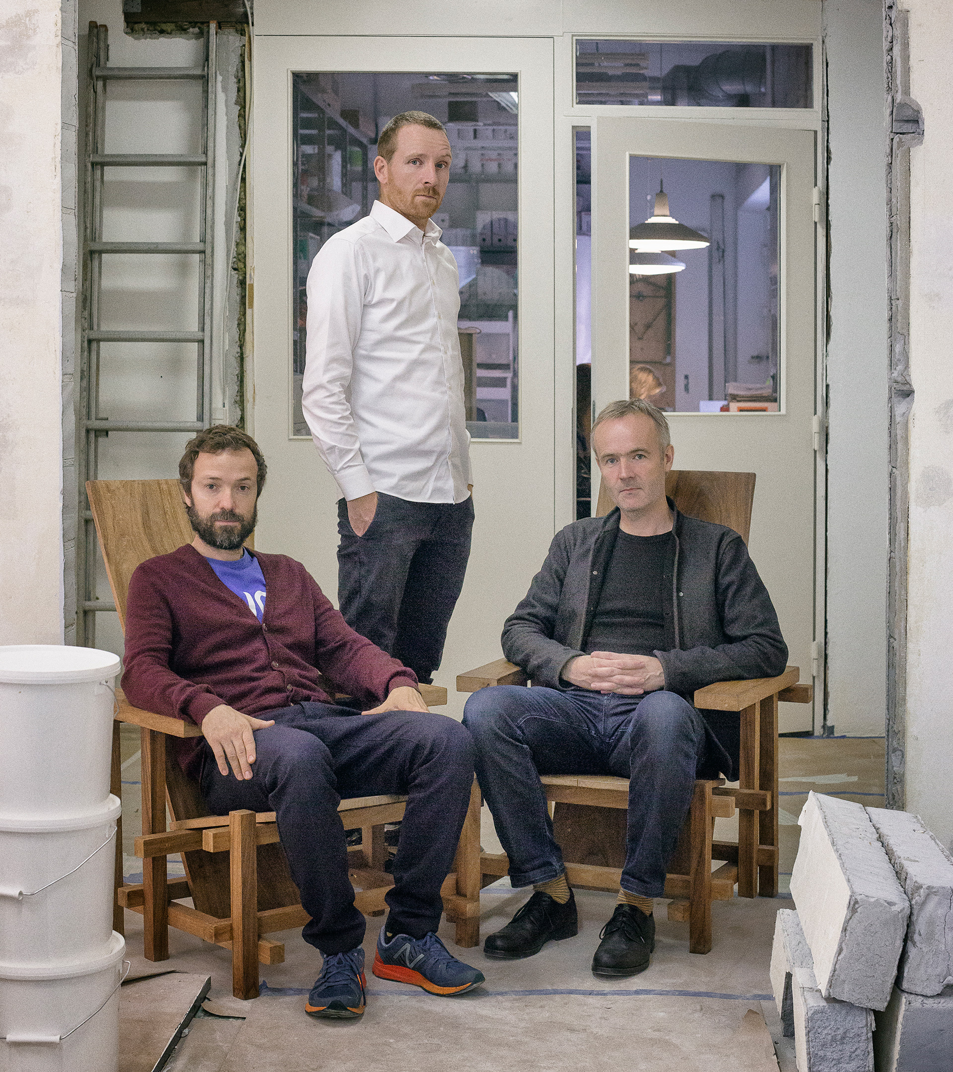 The SUPERFLEX team comprising Jakob Fenger, Bjørnstjerne Christiansen and Rasmus Nielsen at their office in Copenhagen | It is not the end of the world | SUPERFLEX | STIRworld