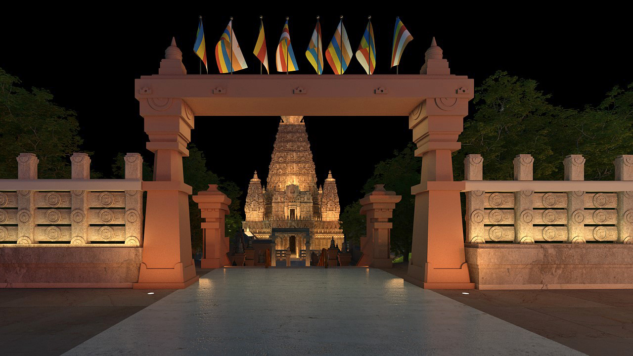 A long lasted light offering is being presented to the Mahabodhi Temple in Bodh Gaya where the Buddha is said to have attained enlightenment | Lighting the Mahabodhi | Siddhartha's Intent India | STIRworld
