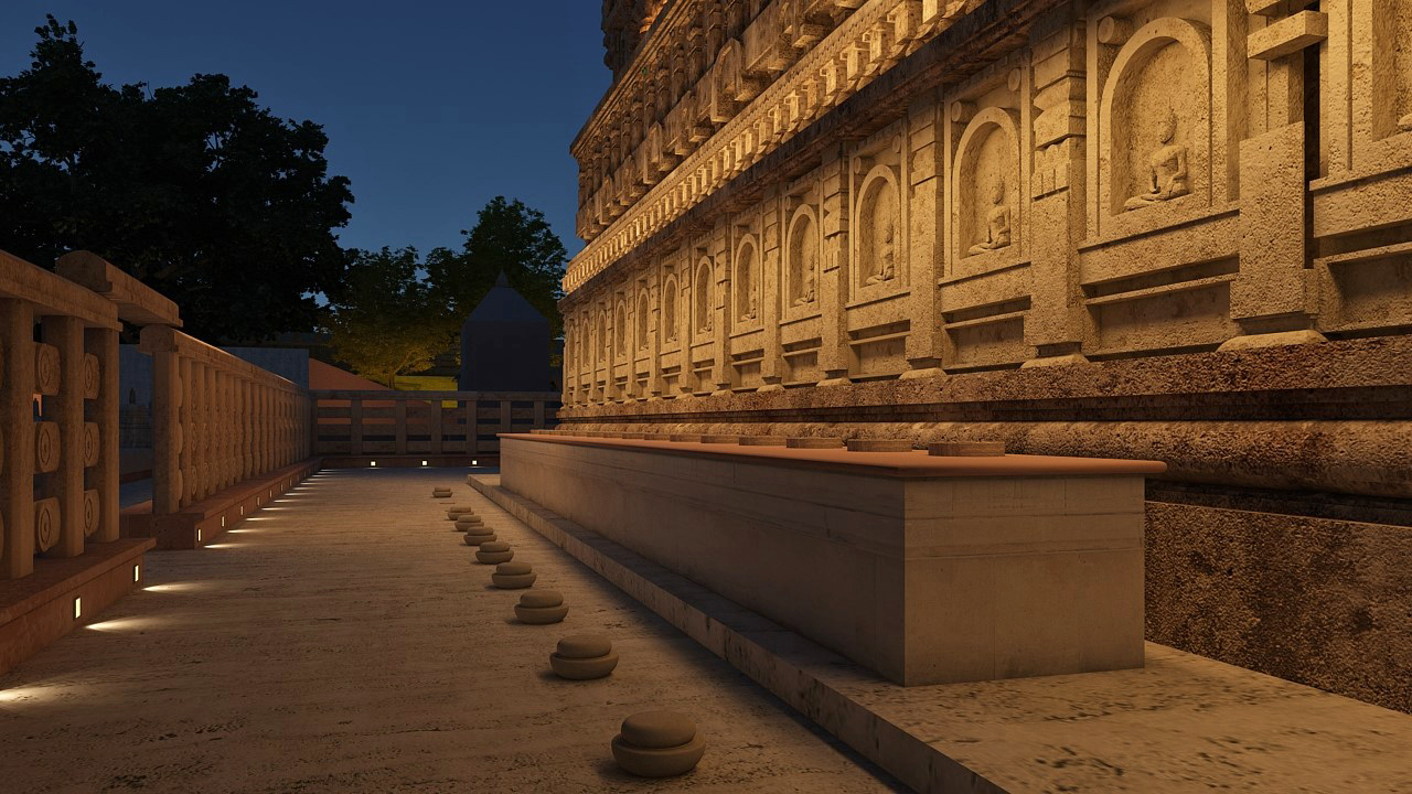 The project aims to offer quality lighting to enhance the temple's aged brick architecture and to bring an immersive experience of pilgrimage to the visitors | Lighting the Mahabodhi | Siddhartha's Intent India | STIRworld