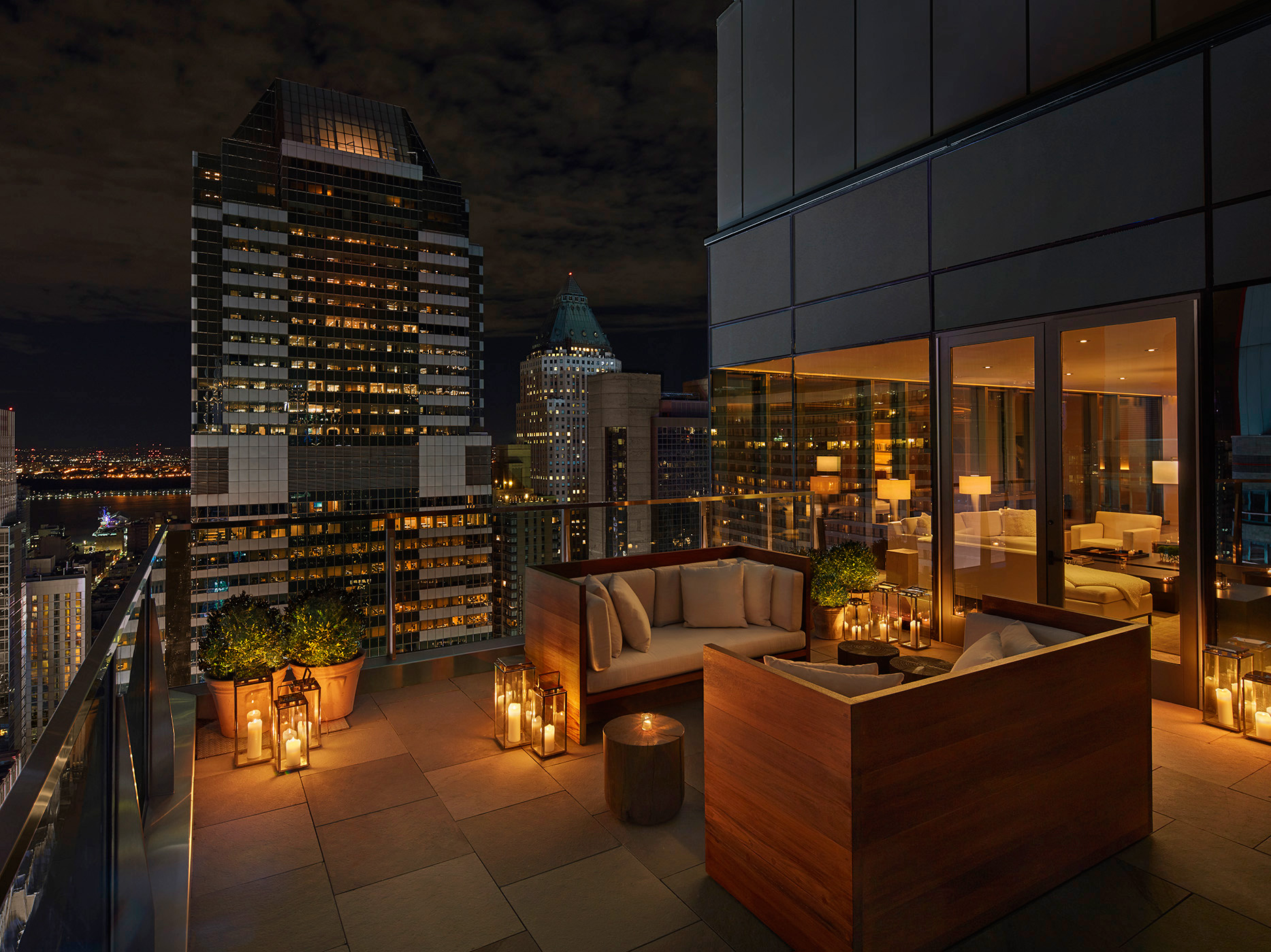 The terrace of a penthouse | Times Square Edition | Yabu-Pushelberg | Ian Schrager | STIRworld