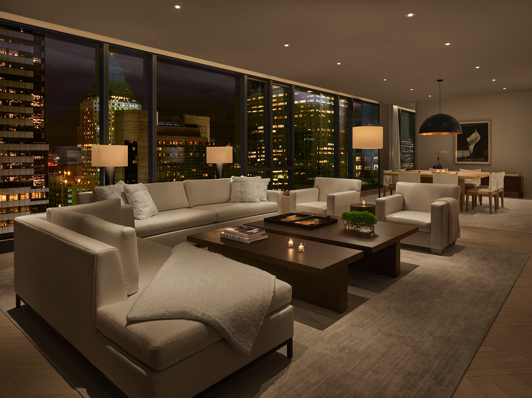 The living room of a penthouse | Times Square Edition | Yabu-Pushelberg | Ian Schrager | STIRworld