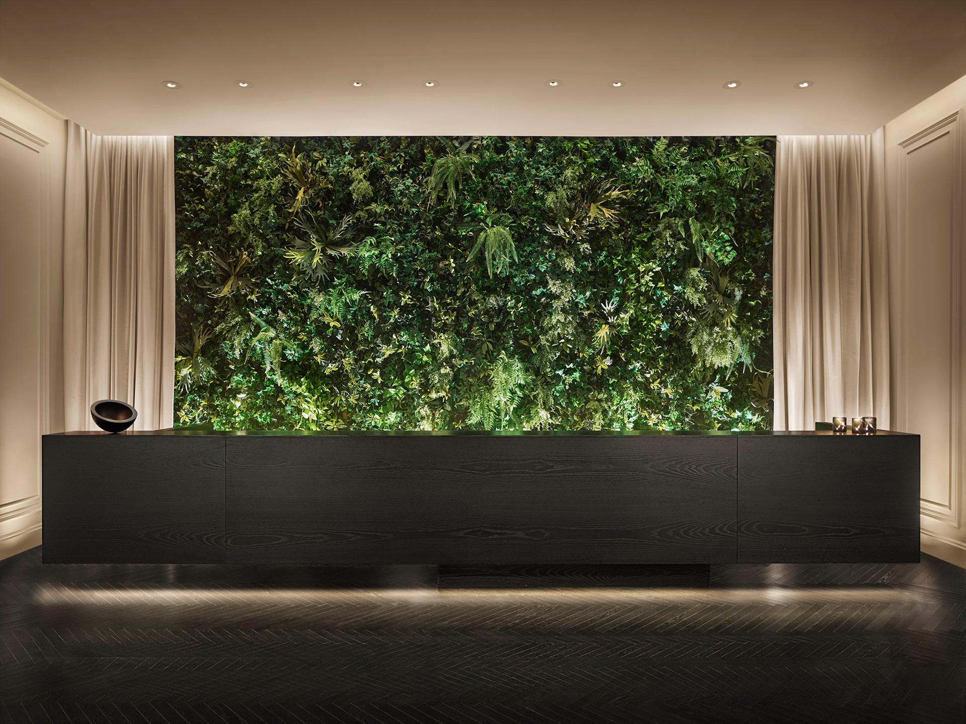 A lobby entrance desk on the eighth floor | Times Square Edition | Yabu-Pushelberg | Ian Schrager | STIRworld