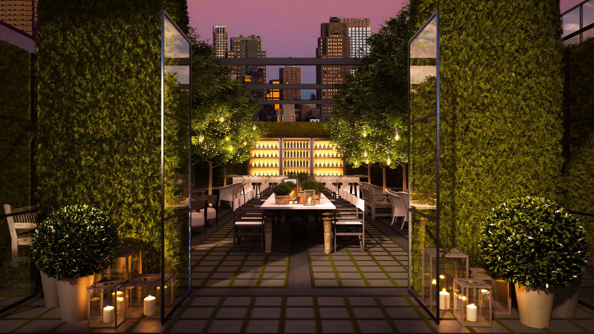 The Lobby Bar terrace | Times Square Edition | Yabu-Pushelberg | Ian Schrager | STIRworld