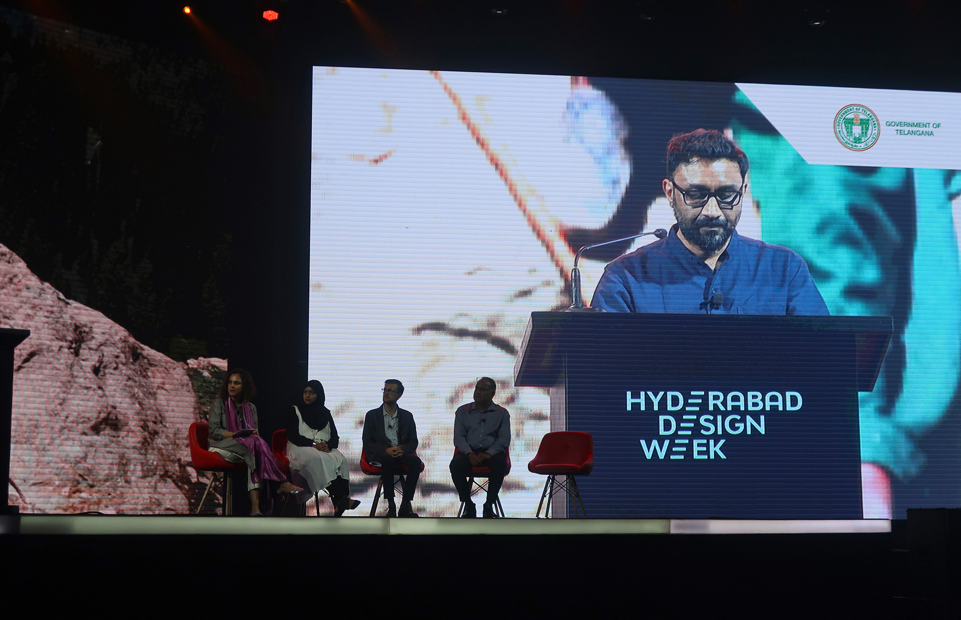 Sandeep Sangaru (Founder & Director, Sangaru Design Studio) at the 'Material Futures' panel discussion  | Material Futures | Hyderabad Design Week | STIRworld