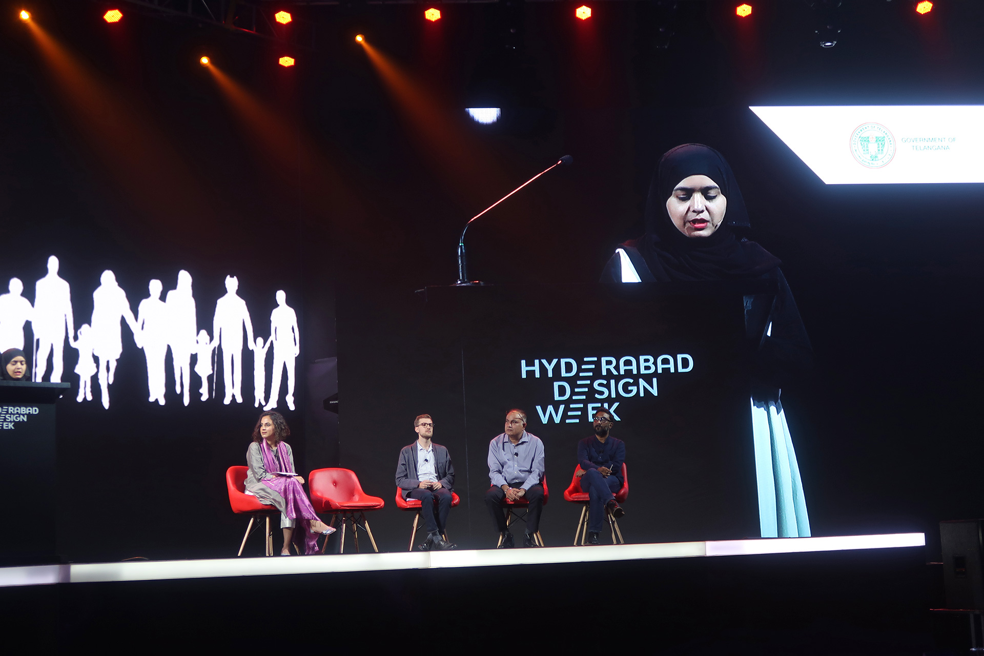 Takbir Fatima (Director, DesignAware) presenting at the 'Material Futures' panel discussion | Material Futures | Hyderabad Design Week | STIRworld