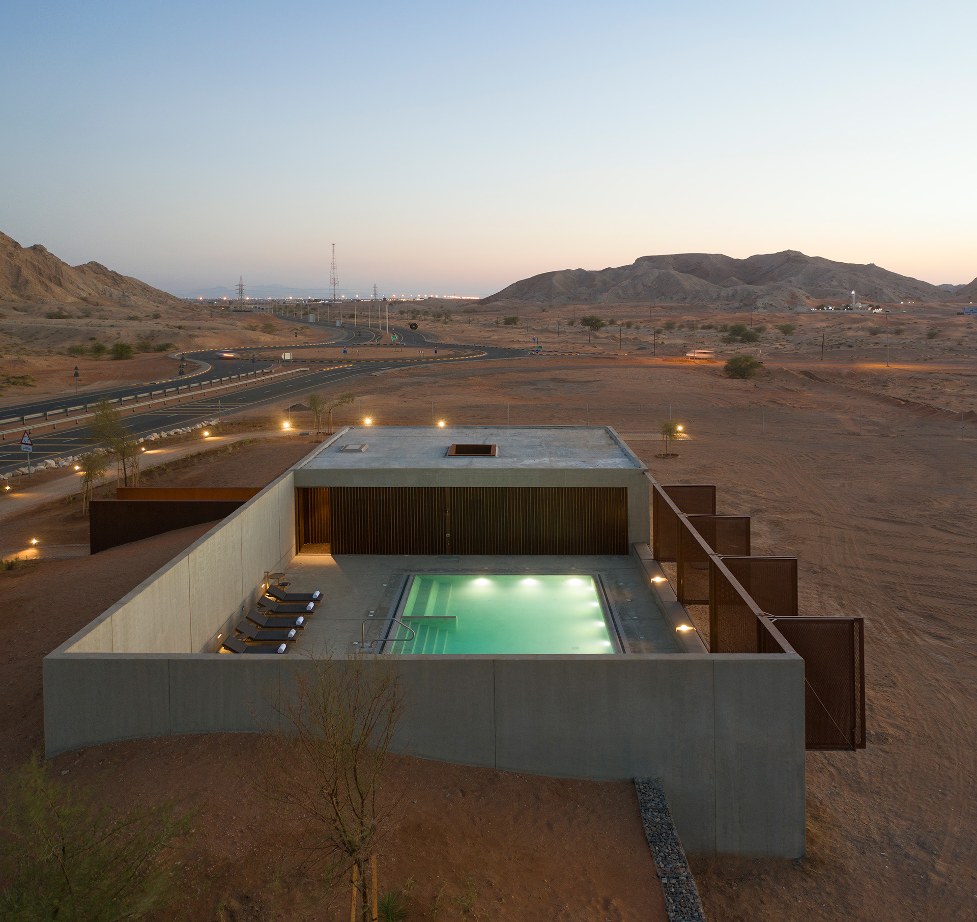 The pool, as seen from various perspectives | Al Faya Lodge | Anarchitect | STIRworld