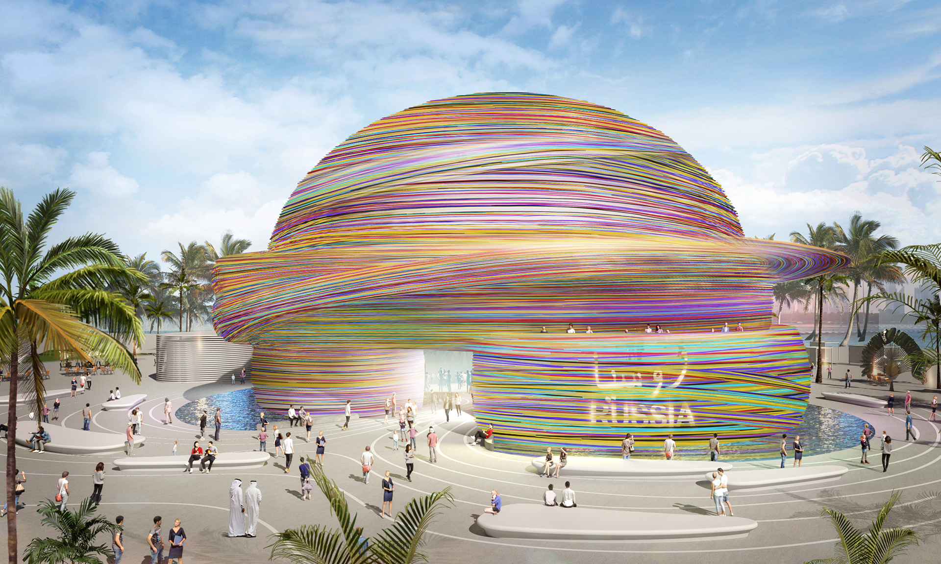 The Russia Pavilion by architecture firm Tchoban SPEECH and Simpateka Entertainment Group at the Expo 2020 Dubai | Mobility | Pavilion | Expo 2020| Dubai| STIRworld