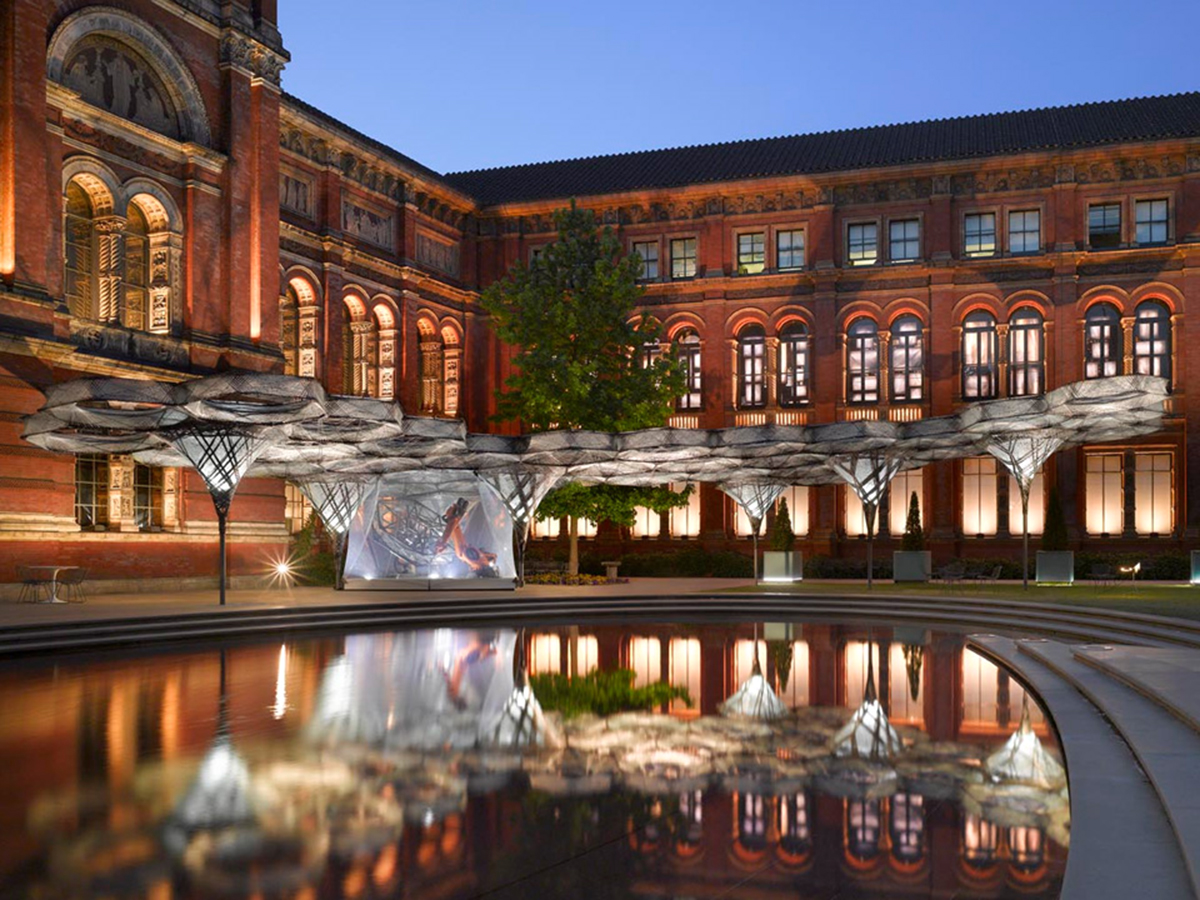 The Elytra Filament Pavilion at the Victoria and Albert Museum |Elytra Filament Pavilion | University of Stuttgart | STIRworld