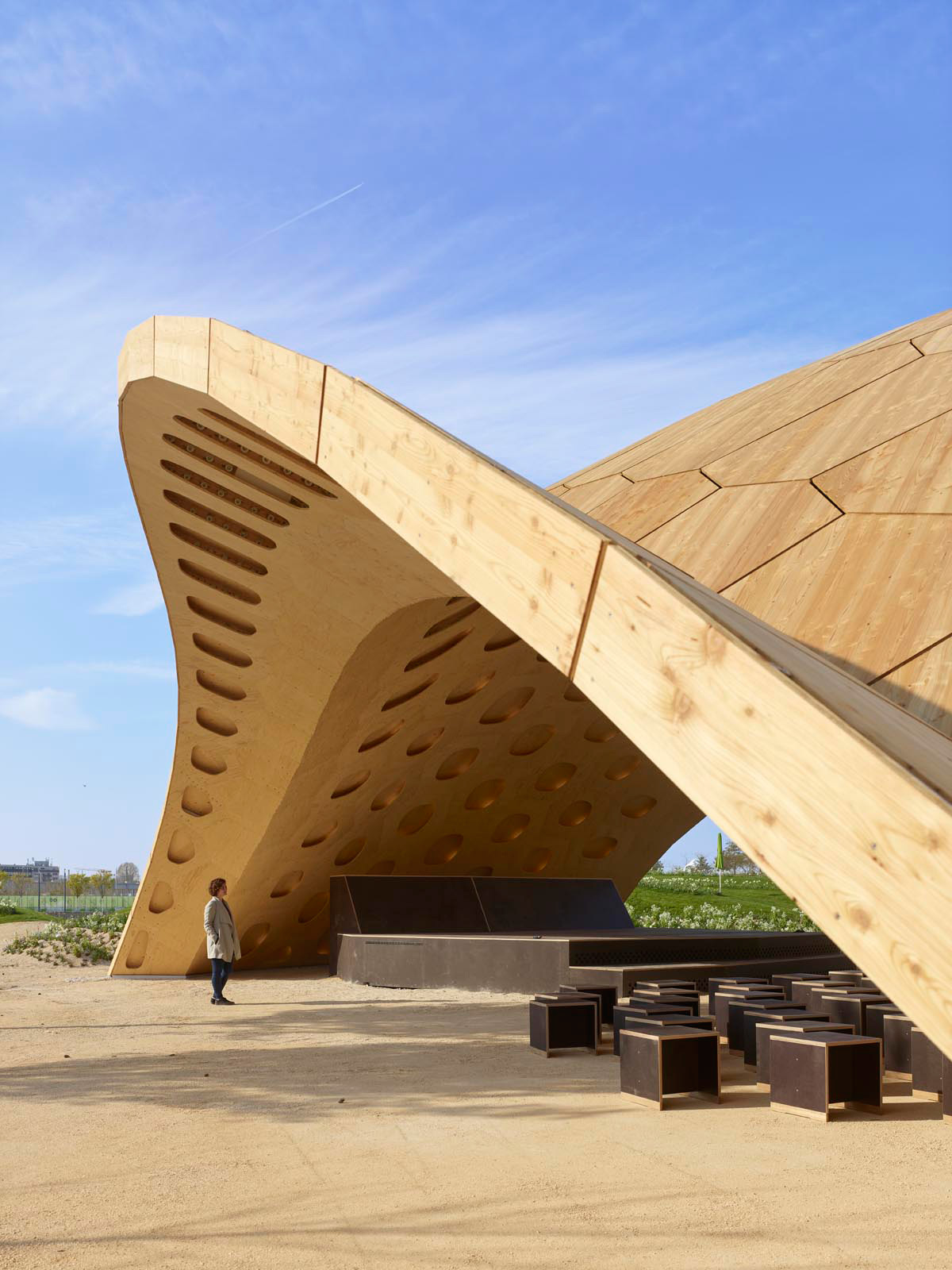 View of the Pavilion | BUGA Wood Pavilion 2019 | University of Stuttgart | STIRworld