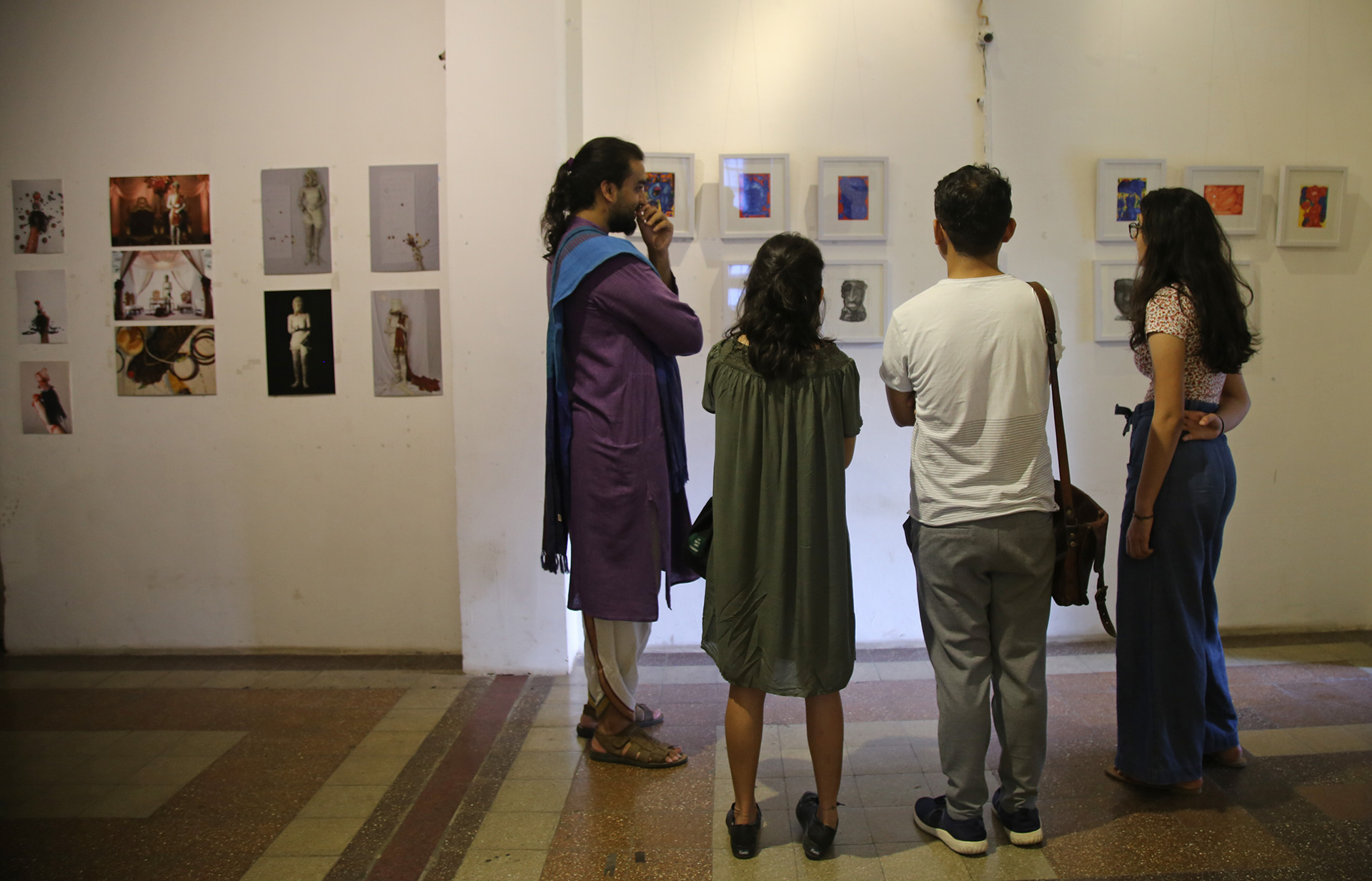Aditya Verma shows around visitors at Label-less, The Futures of Sexuality, curated by Aditi Rakhe | Futures of Sexuality | STIRworld