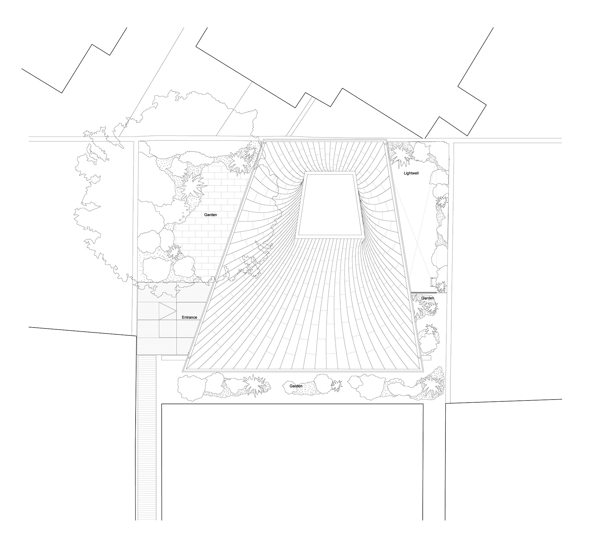 Roof Plan | House in a Garden, London by Gianni Botsford Architects | STIRworld