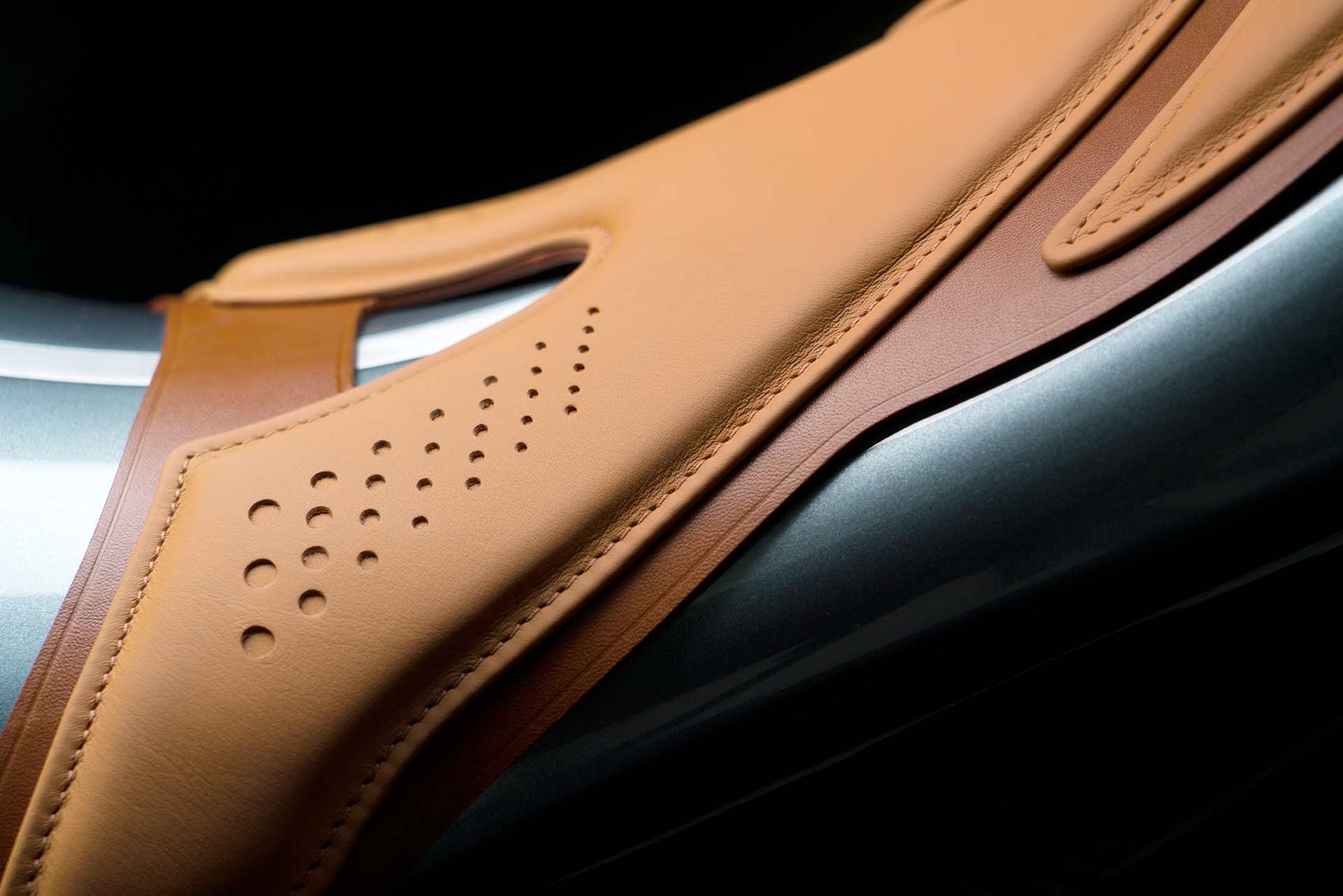 The Oxford Tan leather pads of the hand-stitched saddle combines old techniques and modern technology | AMB 001 | Aston Martin | Brough Superior | STIRworld
