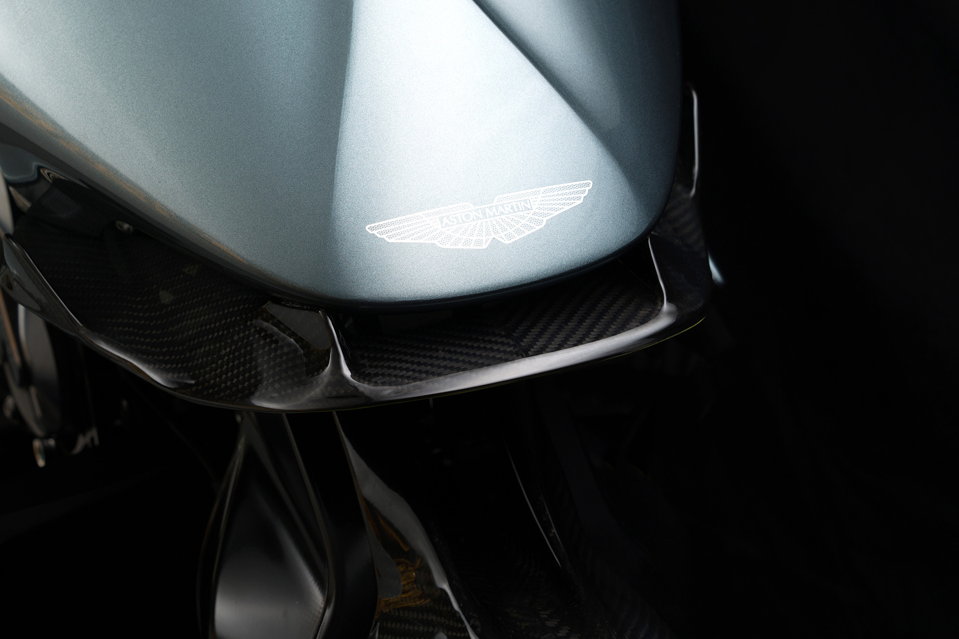 Aston Martin wings under the lacquer of the bodywork on AMB 001's nose | AMB 001 | Aston Martin | Brough Superior | STIRworld