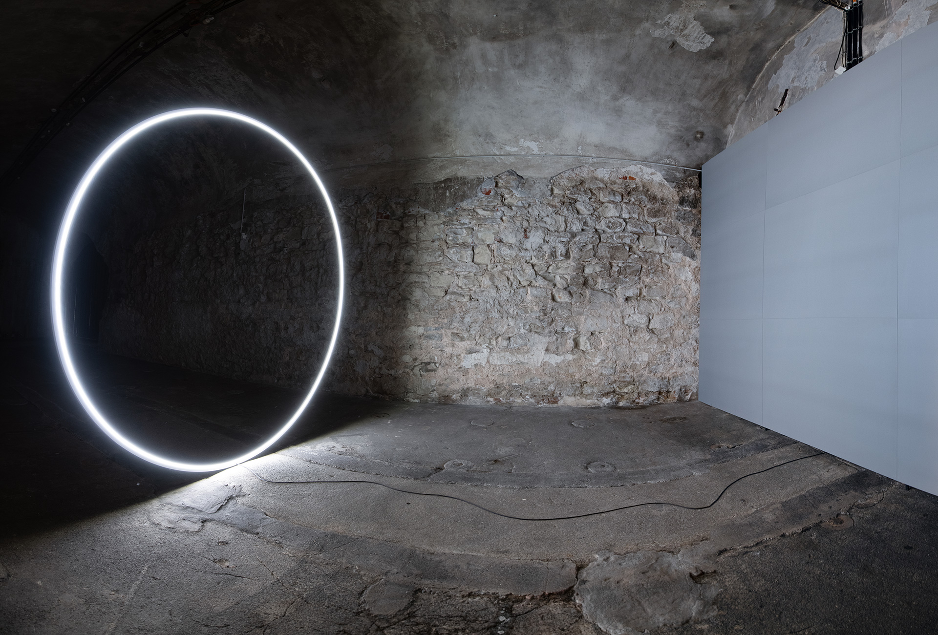 Dachroth + Jeschonnek filled the museum's vaulted cellar by a Negative Space of Light – a black hole in its own right | International Light Art Award 2019 | Dachroth + Jeschonnek | STIRworld