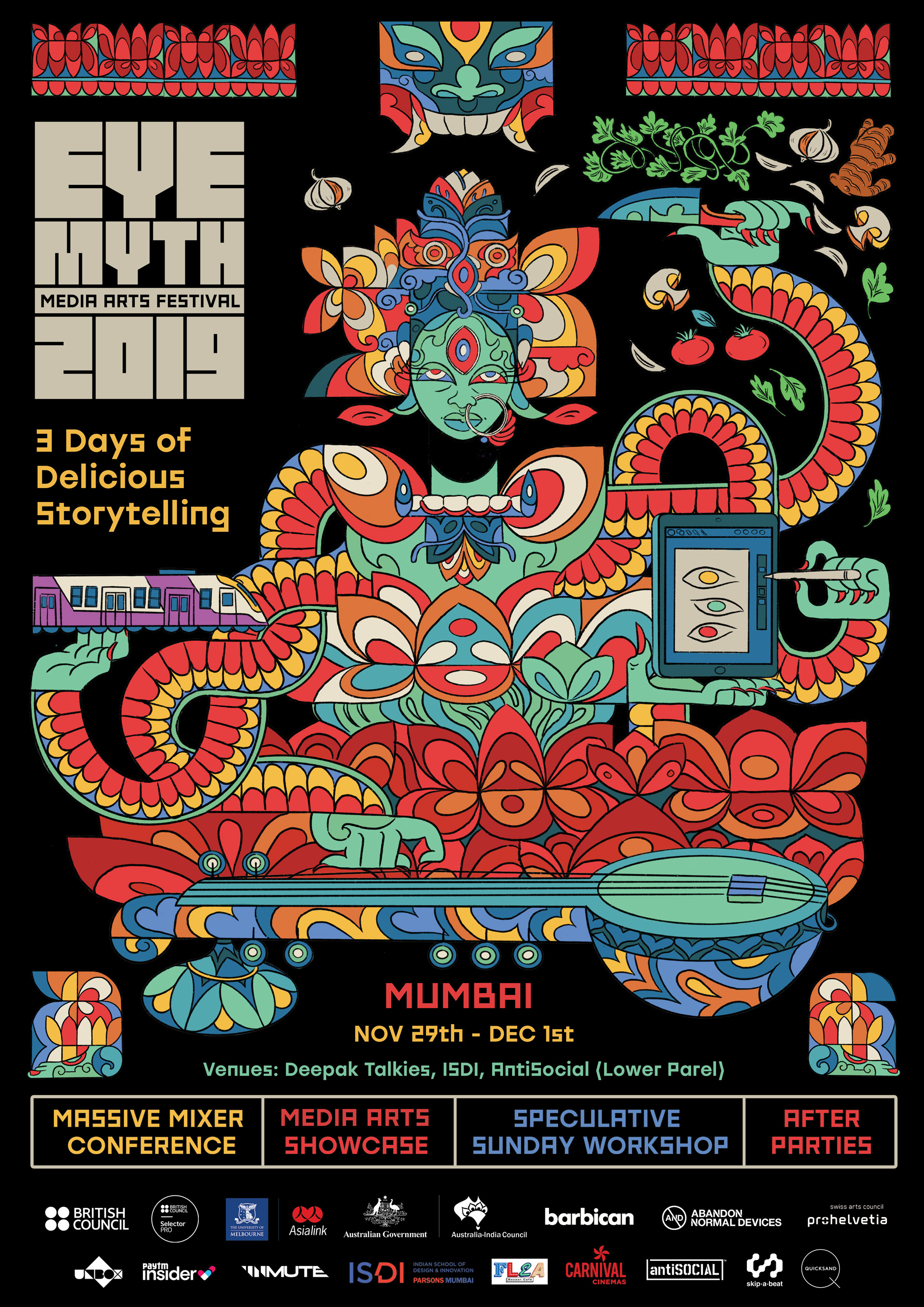 Official poster for EyeMyth Media Arts Festival 2019 | EyeMyth Media Arts Festival | STIRworld