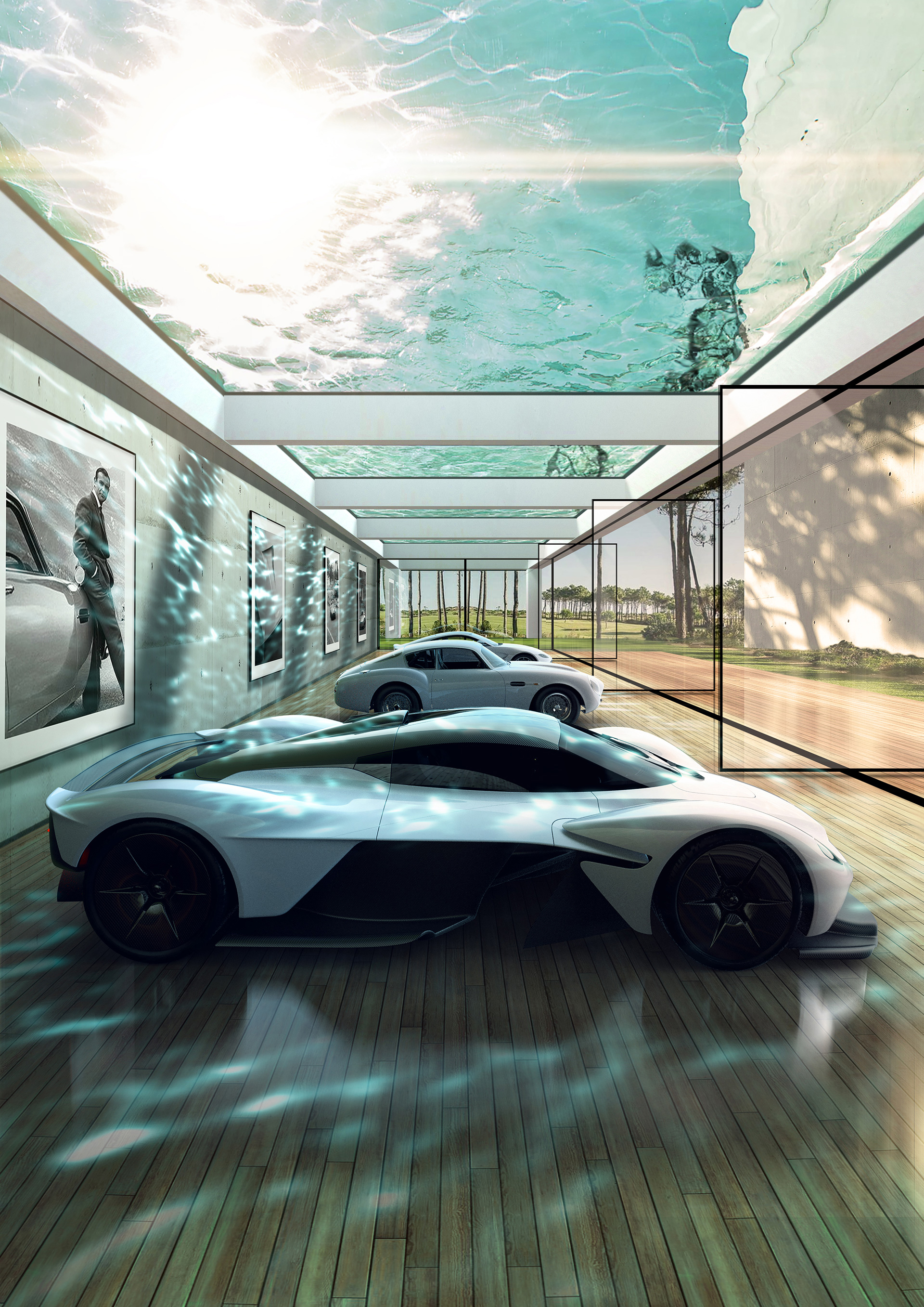 Aston Martin cars parked in an automotive gallery  | Aston Martin Automotive Galleries and Lairs| STIRworld