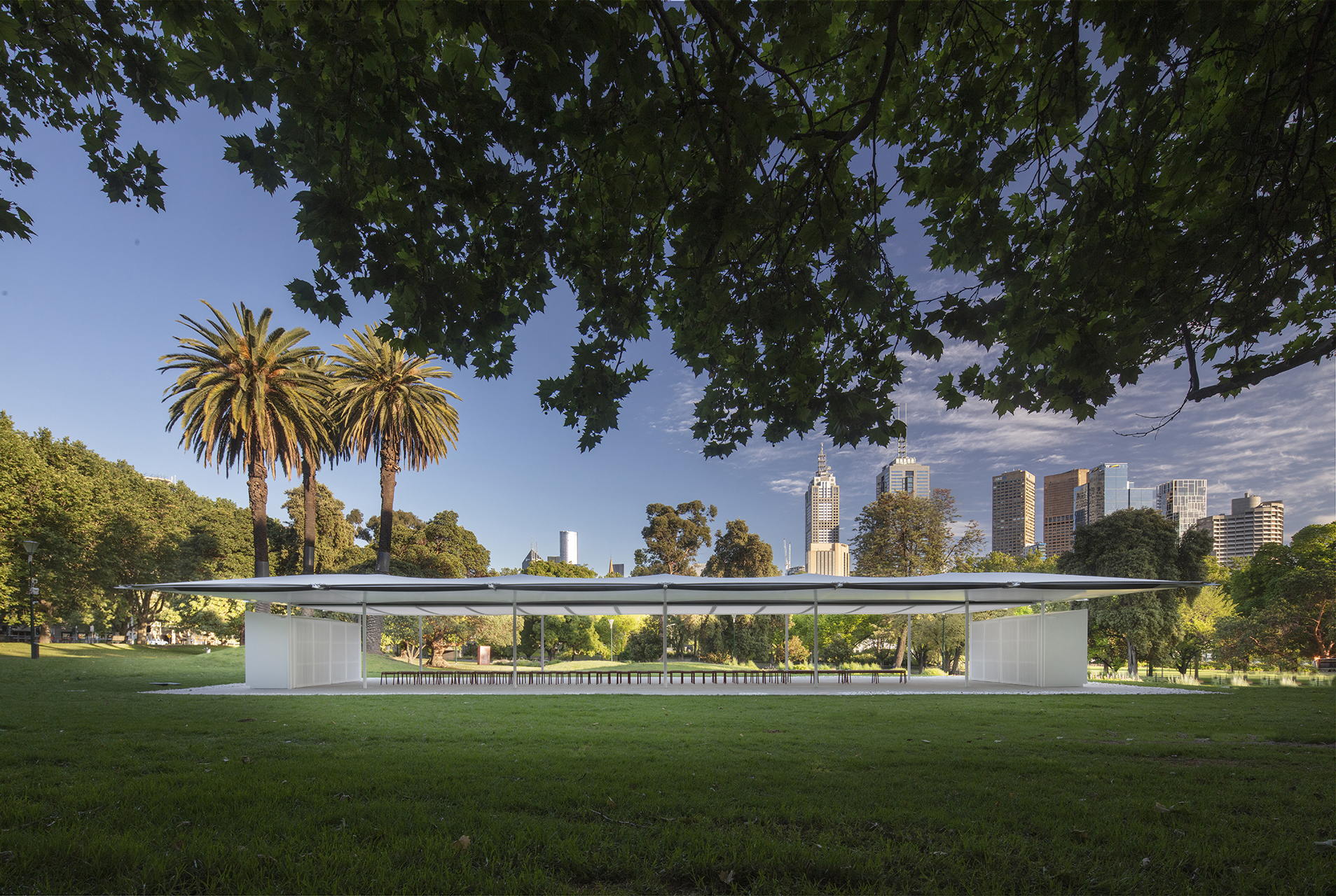 The MPavilion 2019 by Glenn Murcutt sits prudently in the urban fabric of the city of Melbourne | MPavilion 2019| Australia | Glenn Murcutt| STIRworld