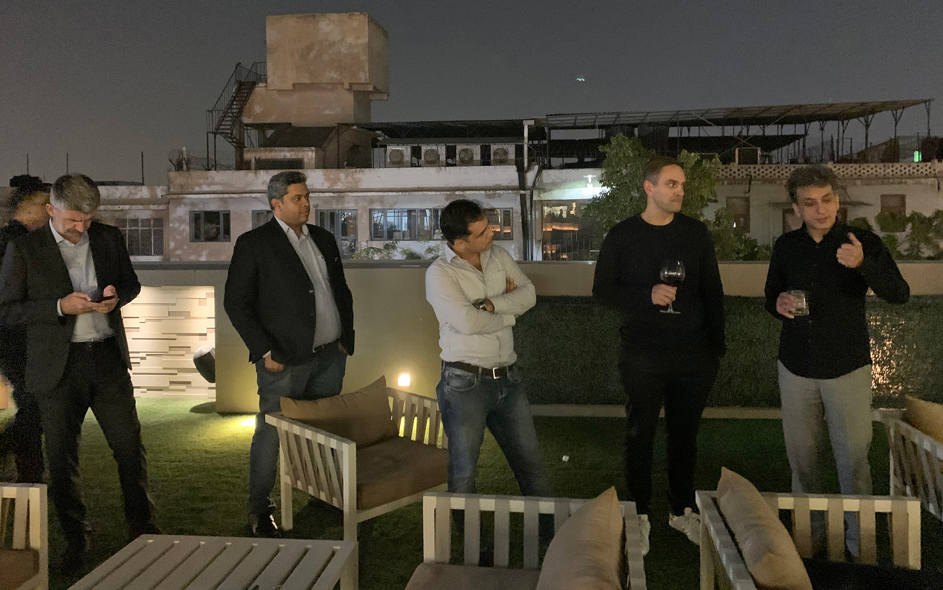 An informal address by Amit Gupta (extreme right) during the event | Tap for more | Intersekt| STIRworld