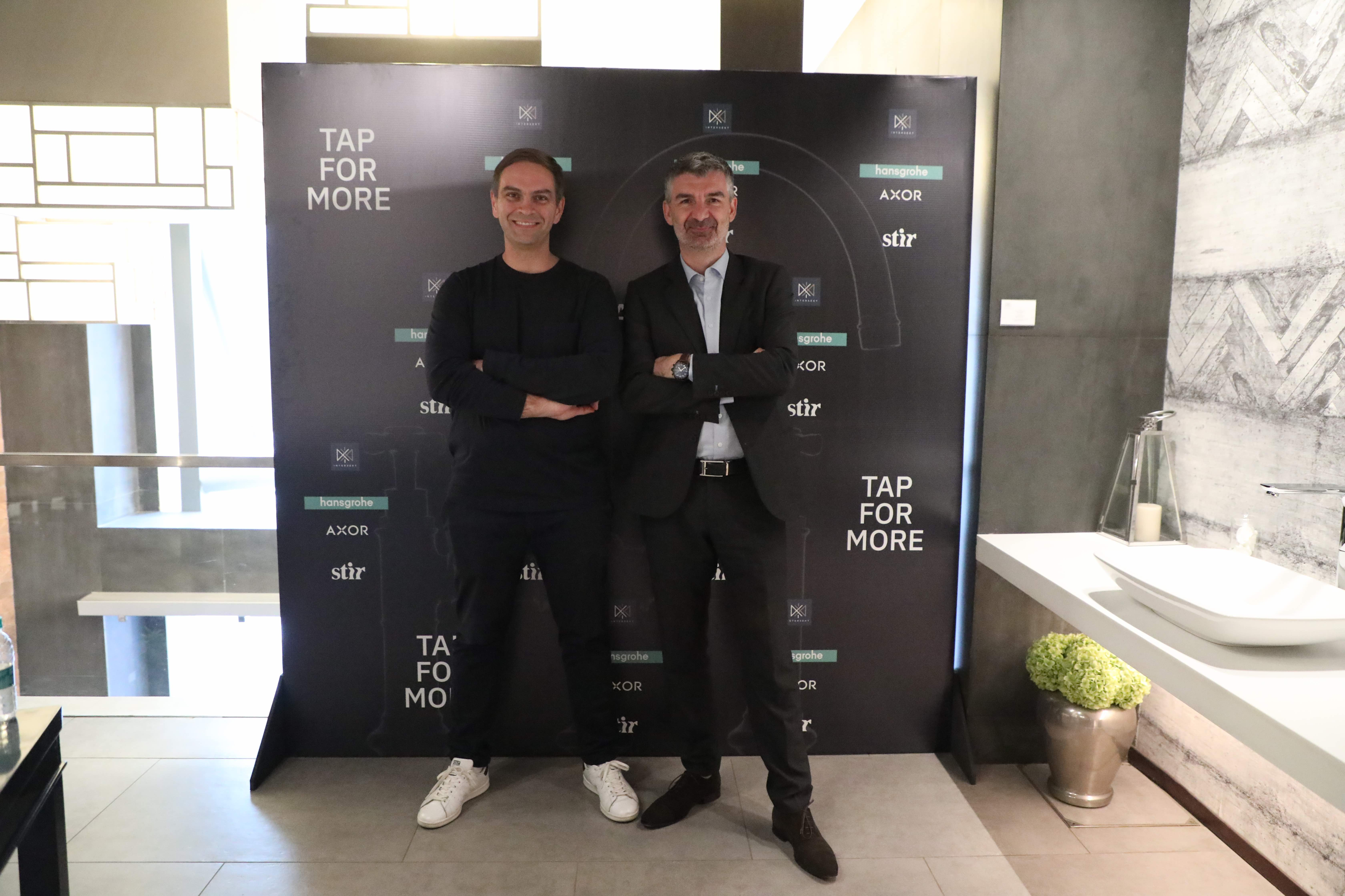 Andreas Diefenbach, Gregory Crouzeix (Managing Director, Hansgrohe Singapore and Head of Sales, Asia Pacific) | Tap for more | Intersekt| STIRworld