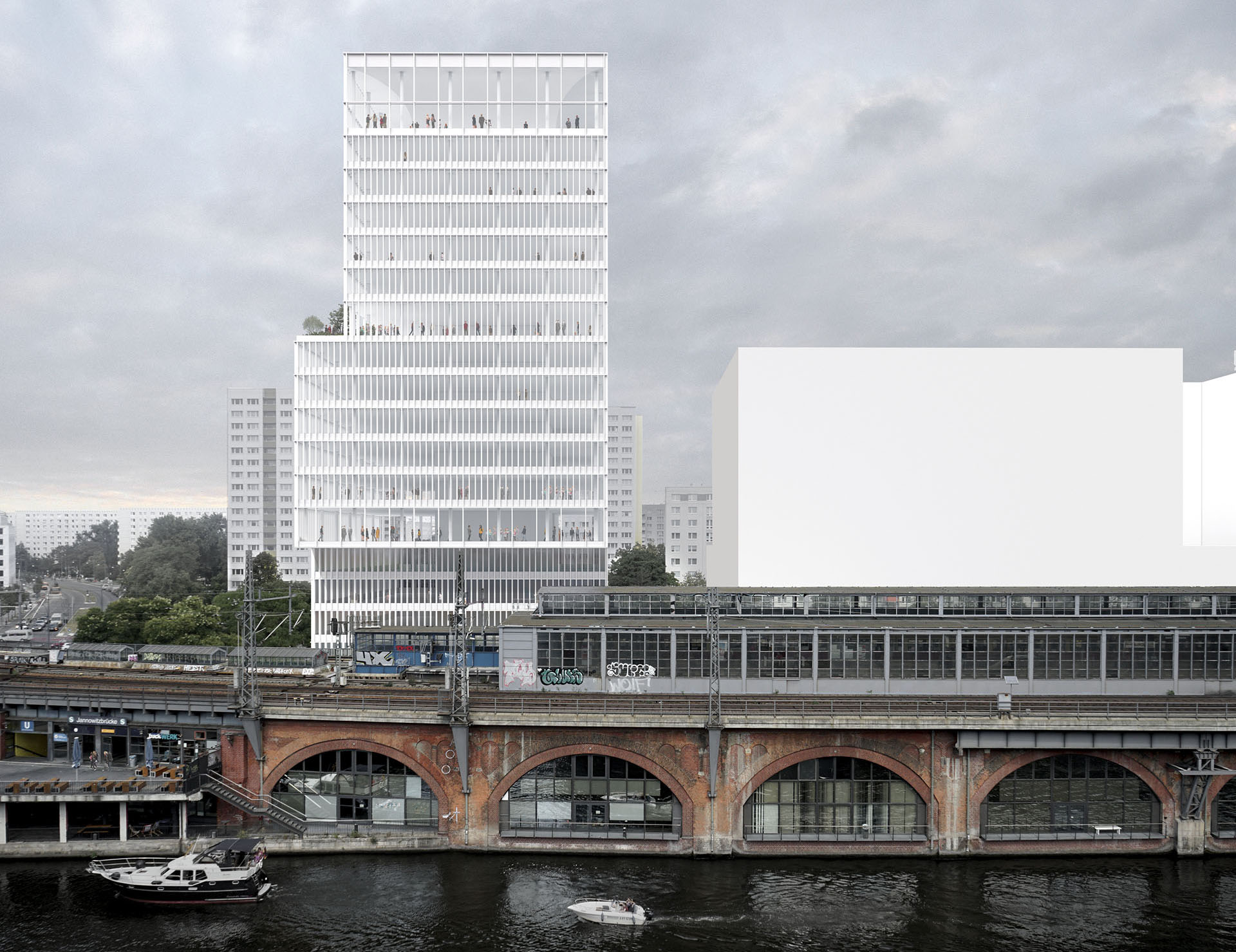 The tower has a diaphanous façade; view from the south | David Chipperfield Architects | STIRworld