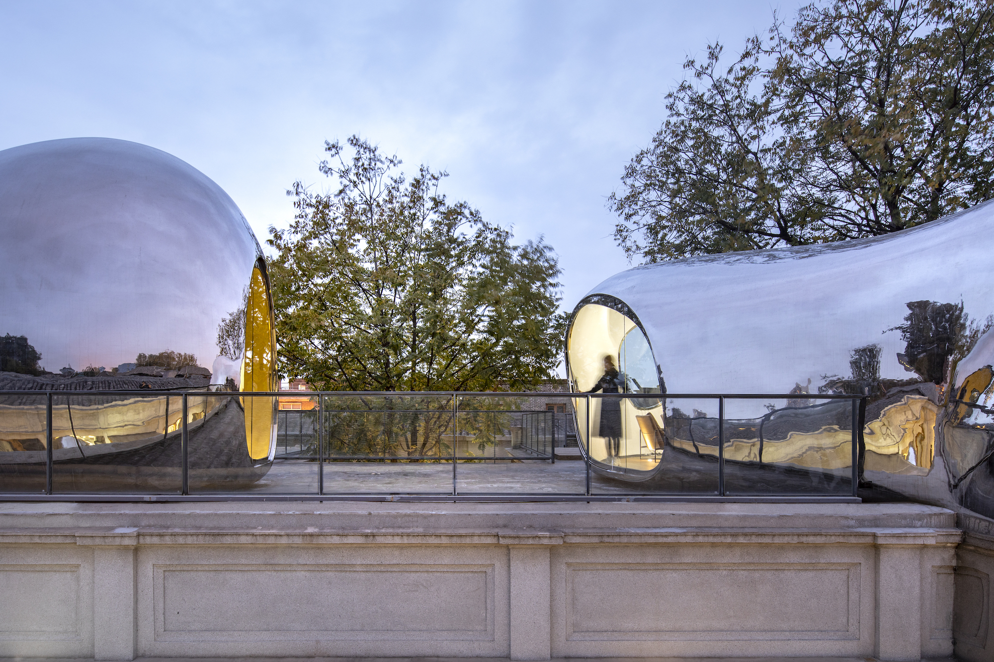 Hutong Bubble 218 by MAD is conceived as a network of metallic bubbles in Beijing | Ma Yansong | STIRworld