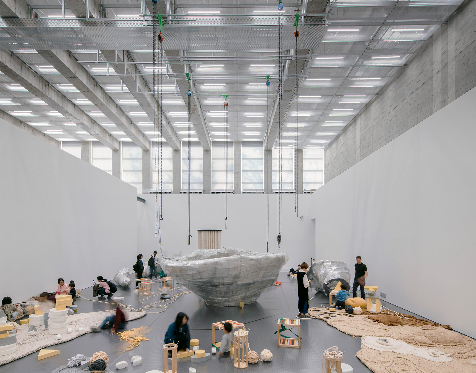 Lower level space inside the exhibition gallery | West Bund Museum | David Chipperfield Architects Berlin and Shanghai| STIRworld