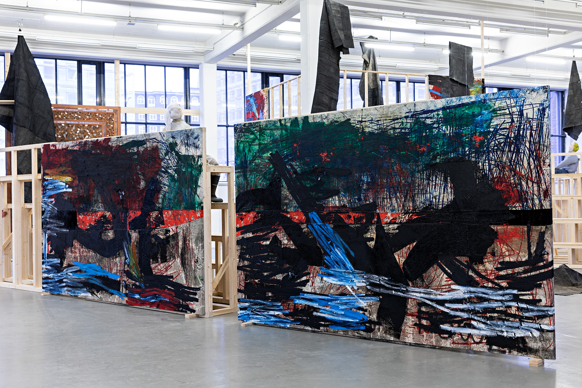 Oscar Murillo, Horizontal Darkness in Search of Solidarity, installation view 5, Kunstverein in Hamburg, 2019 | Oscar Murillo| STIRworld