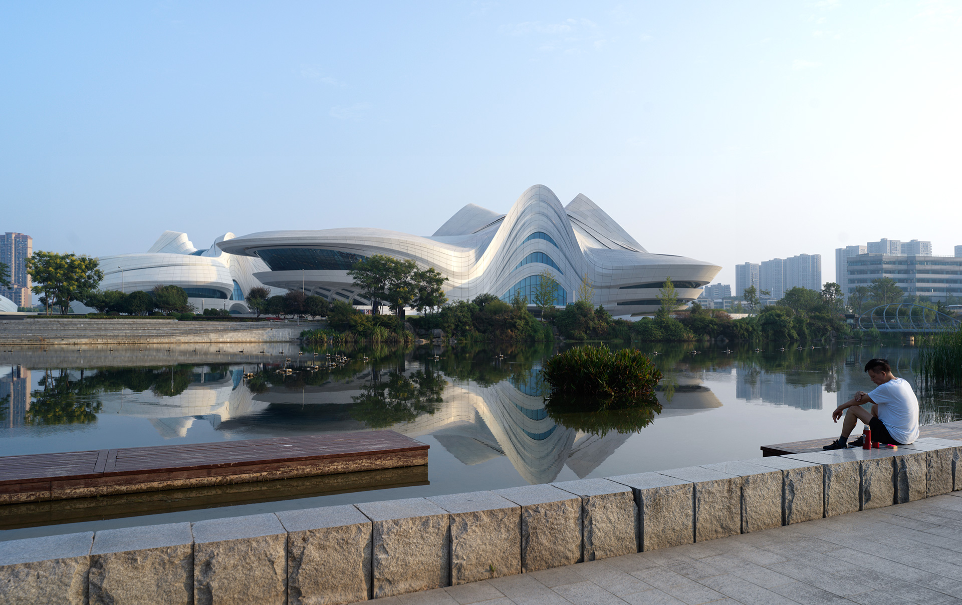 The centre provides views towards the Meixi Lake | Art Museum | China | STIRworld