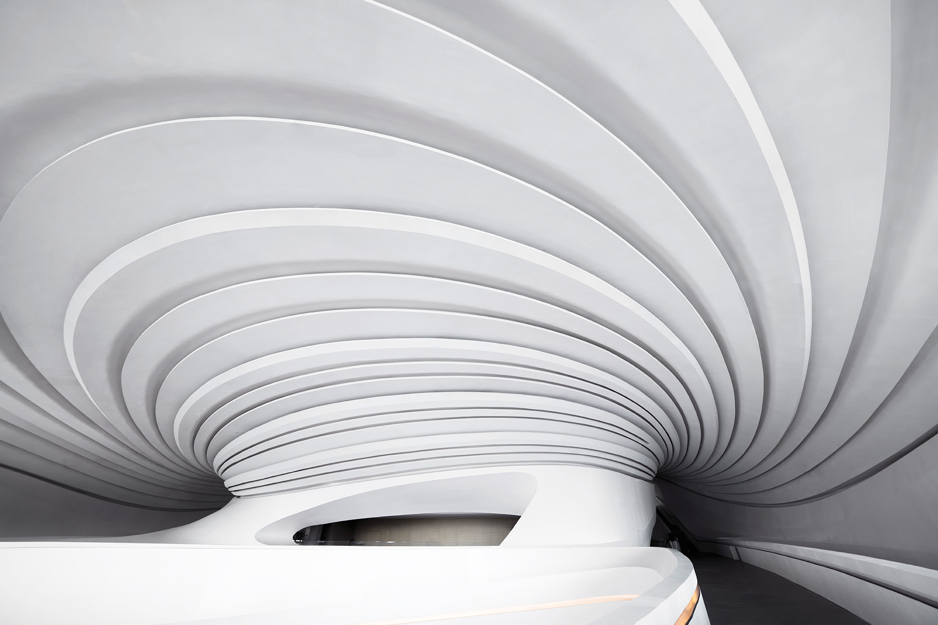 Sweeping curves define the interiors of the entire centre | Art Museum | China | STIRworld