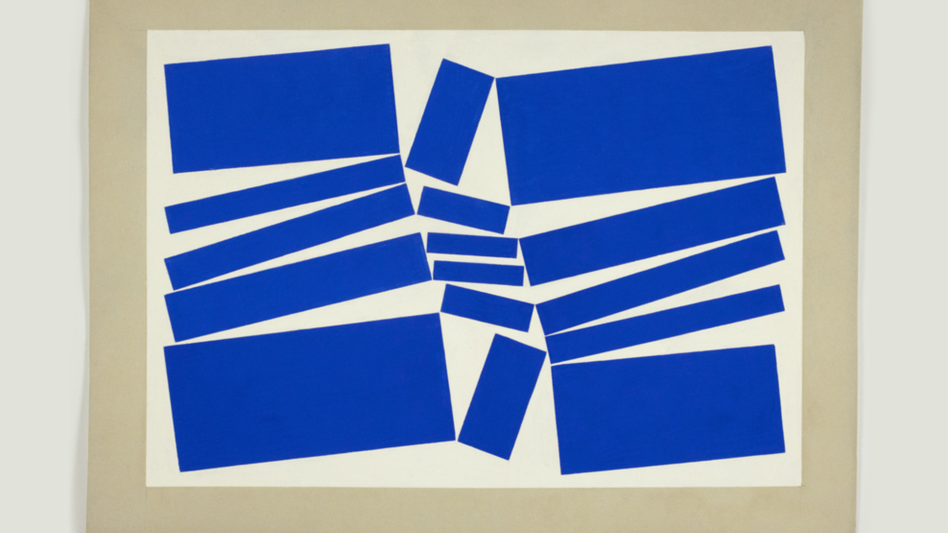 Hélio Oiticica's Untitled, 1958 in gouache on cardboard | Lisson Gallery | STIRworld