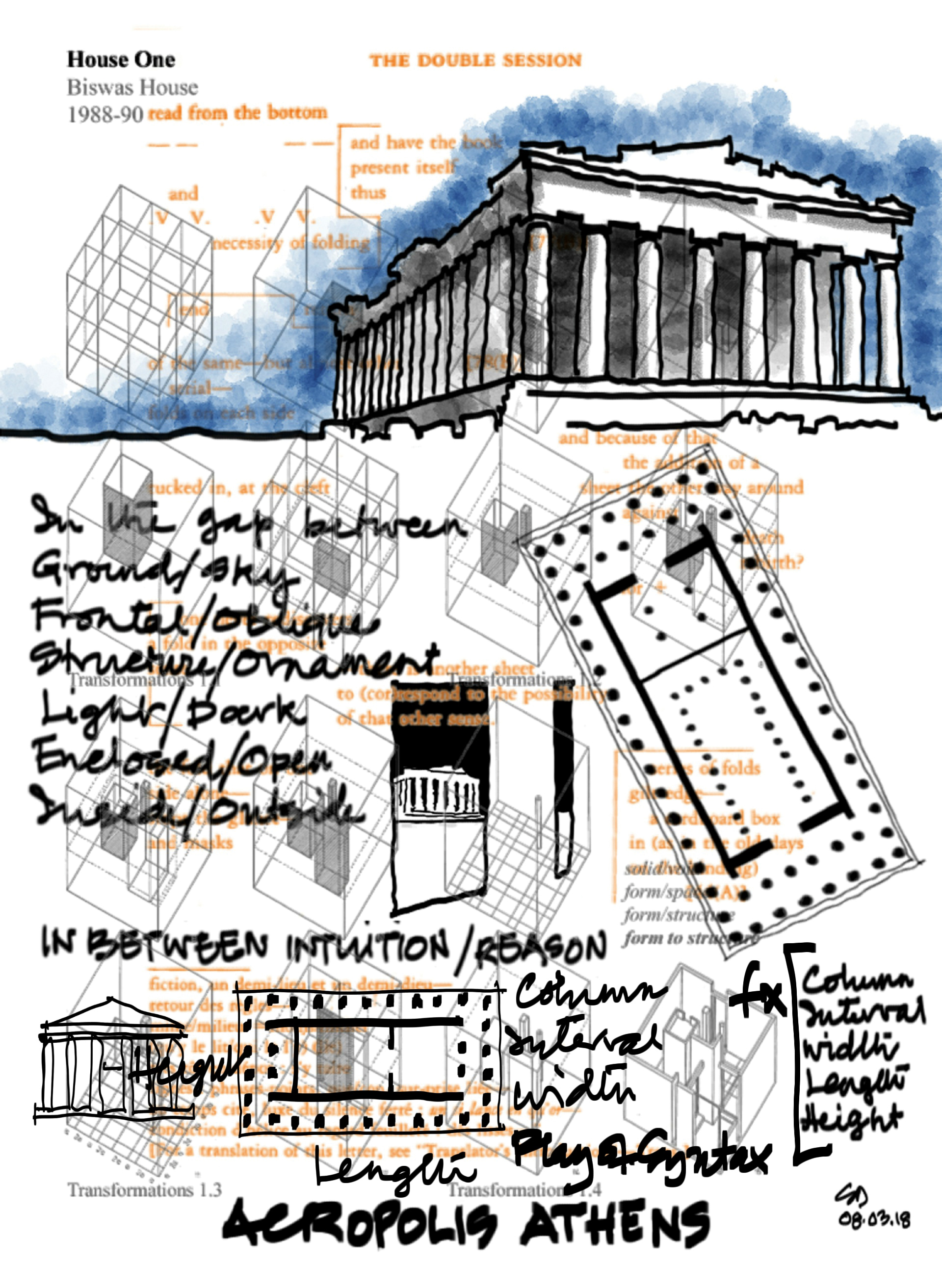 Sketch of the Acropolis by Shubhrajit Das |Acropolis |Shubhrajit Das | STIRworld