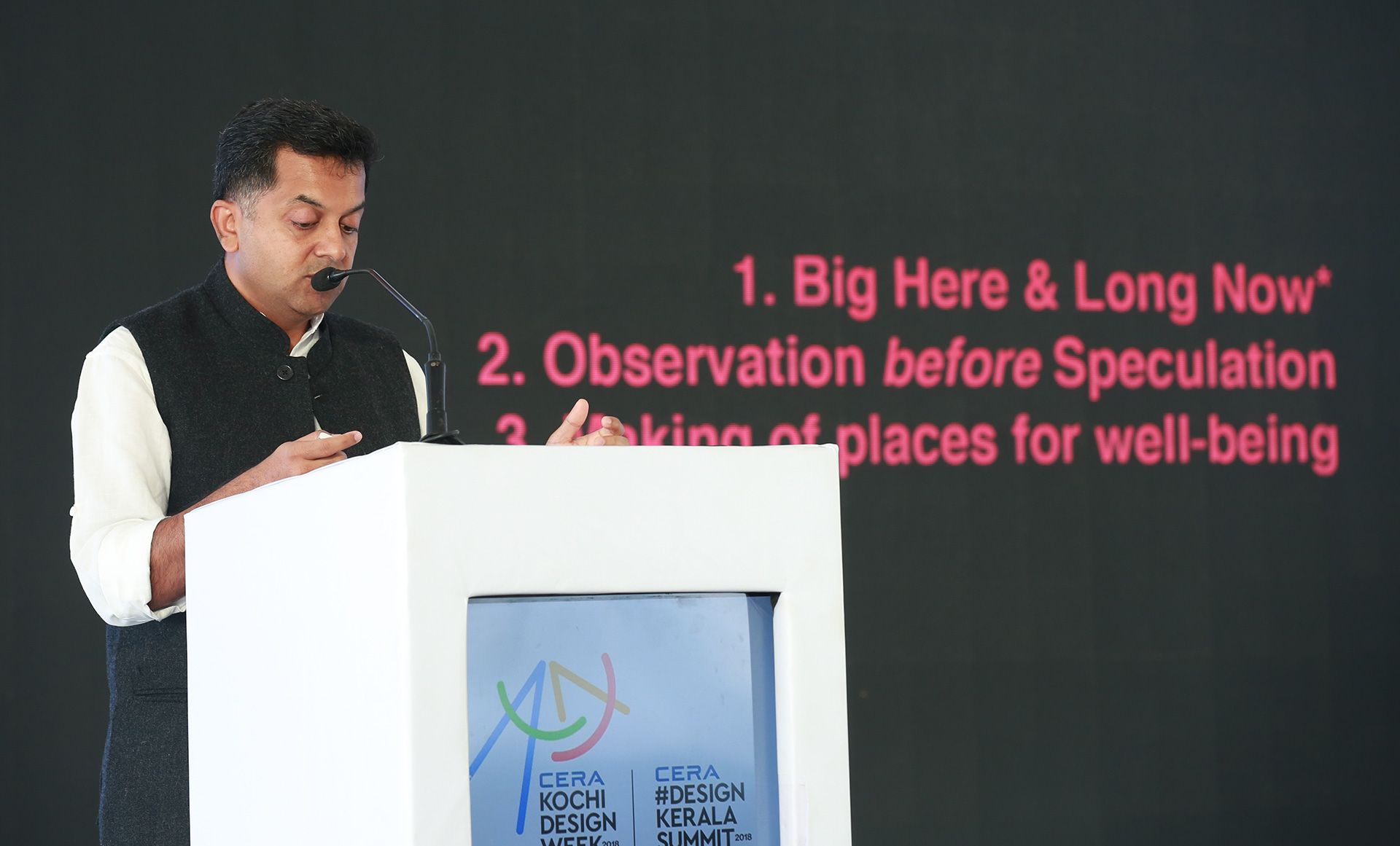 Architect and urban designer Bijoy Ramachandran at the Design Summit at Kochi Design Week 2018 | Kochi Design Week | STIRworld