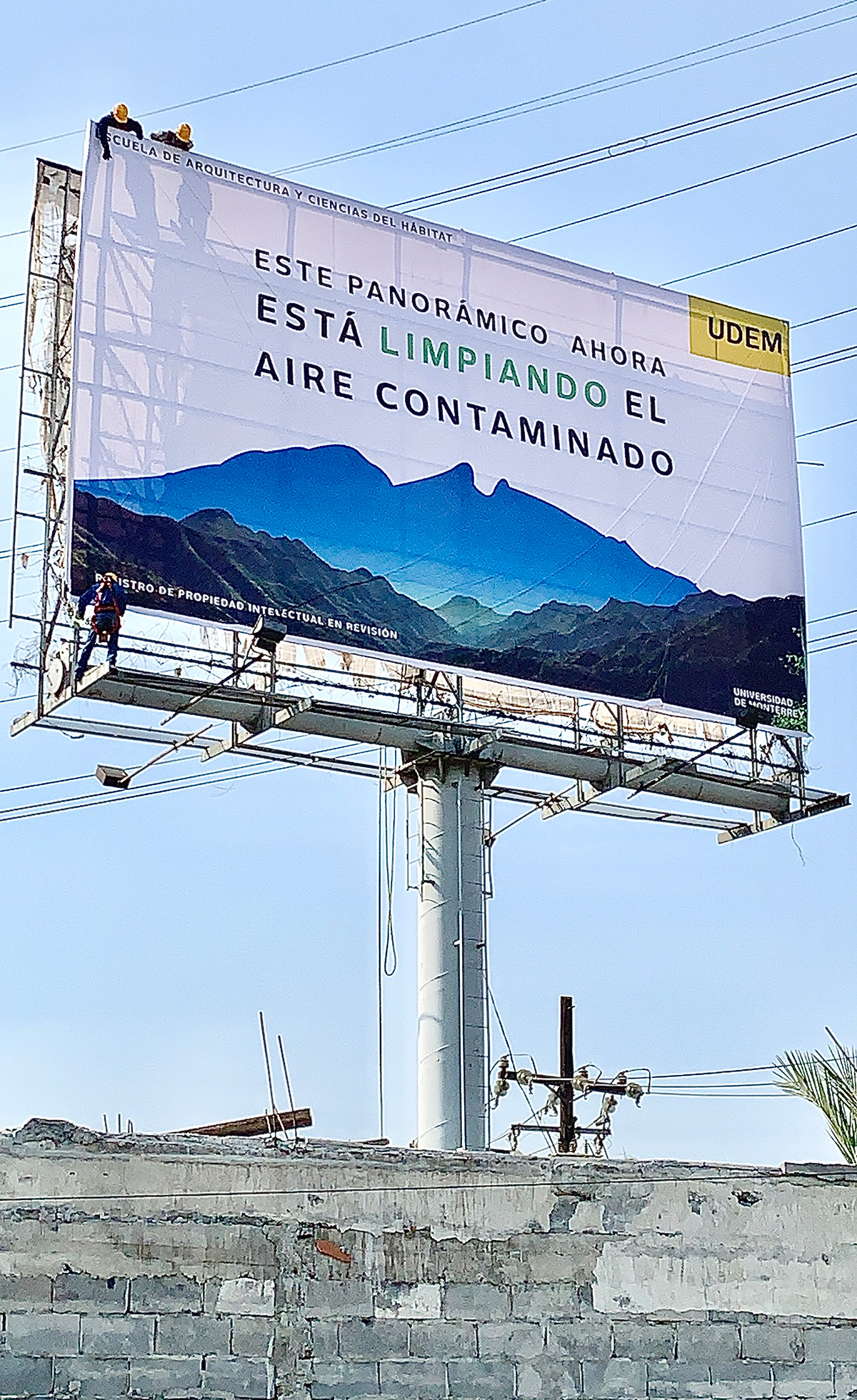The Smog Eating Billboard in Mexico is designed by students at UDEM University and Daan Roosegaarde | The Smog Free Project | Daan Roosegaarde | STIRworld