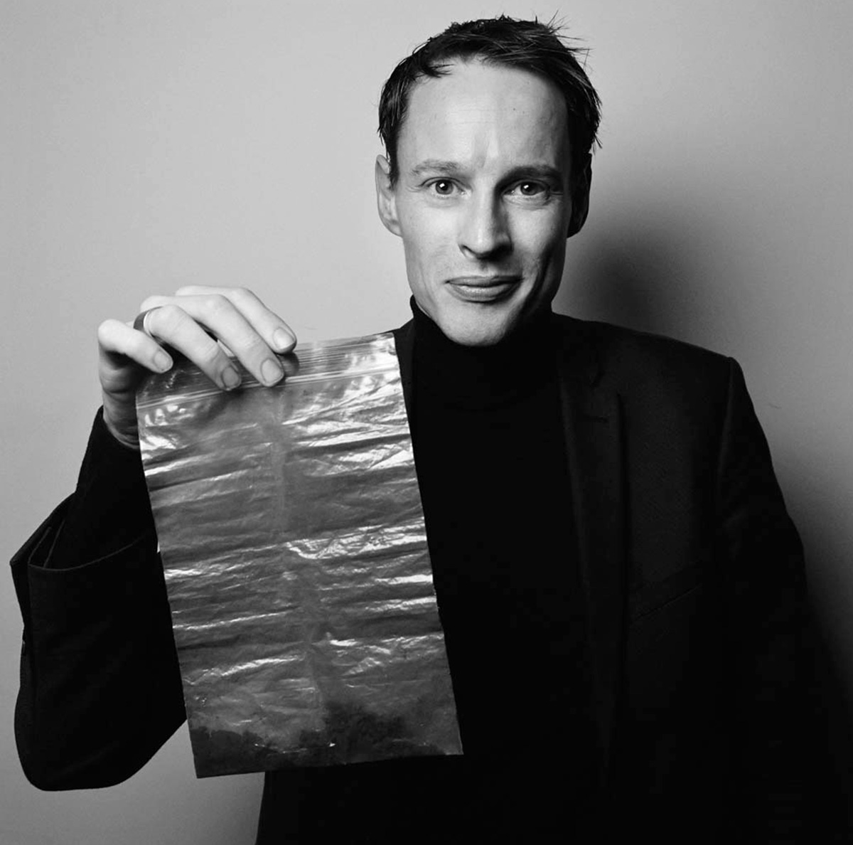 Daan Roosegaarde pictured with filtered smog particles | The Smog Free Project | Daan Roosegaarde | STIRworld