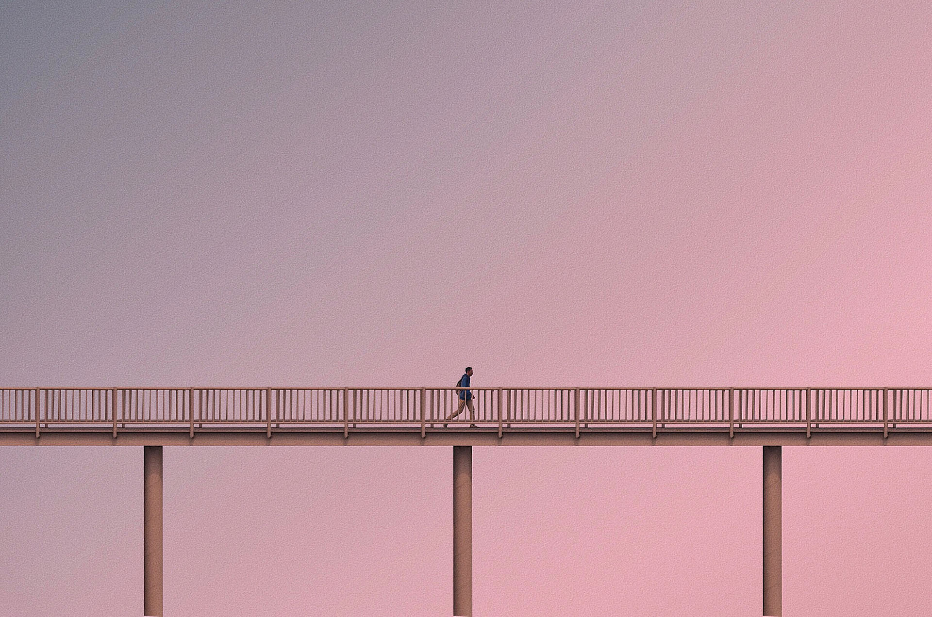 A tiny human subject against an exaggerated, large-scale background | Andhika Ramadhian | STIRworld