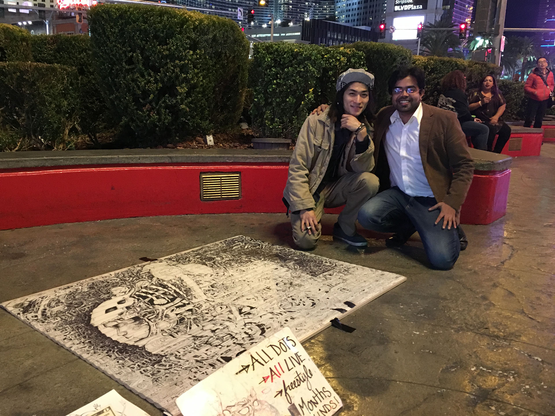 Anirudh Sharma (right) with an artist working with AIR-INK  | Graviky Labs | STIRworld