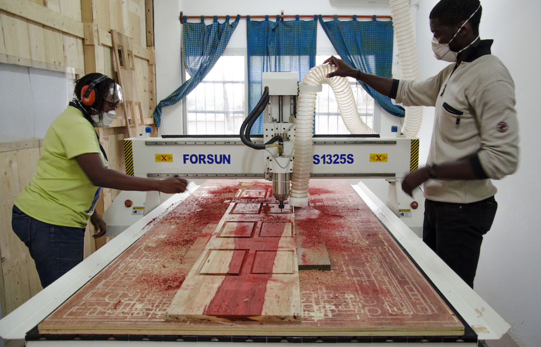 "Paolo Cascone/CODESIGNLAB, ""African Fabbers School CNC Workshop"", Douala, June 2019 