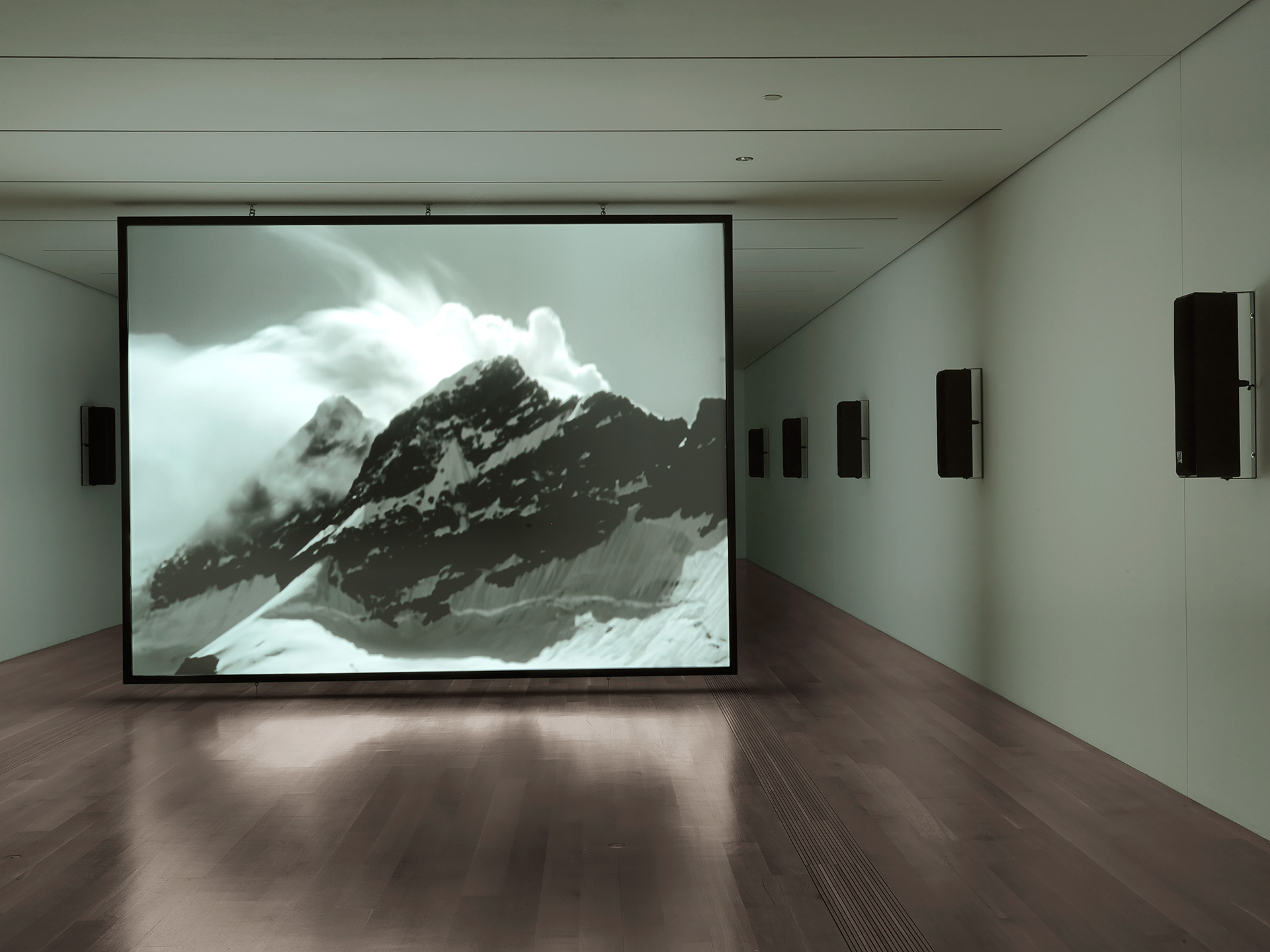 Susan Philipsz (b. 1965), White Flood, 2019, 12-channel sound installation, HD film, 14 min. 11 seconds, dimensions variable, installation view 1 | Susan Philipsz: Seven Tears | Susan Philipsz | STIRworld