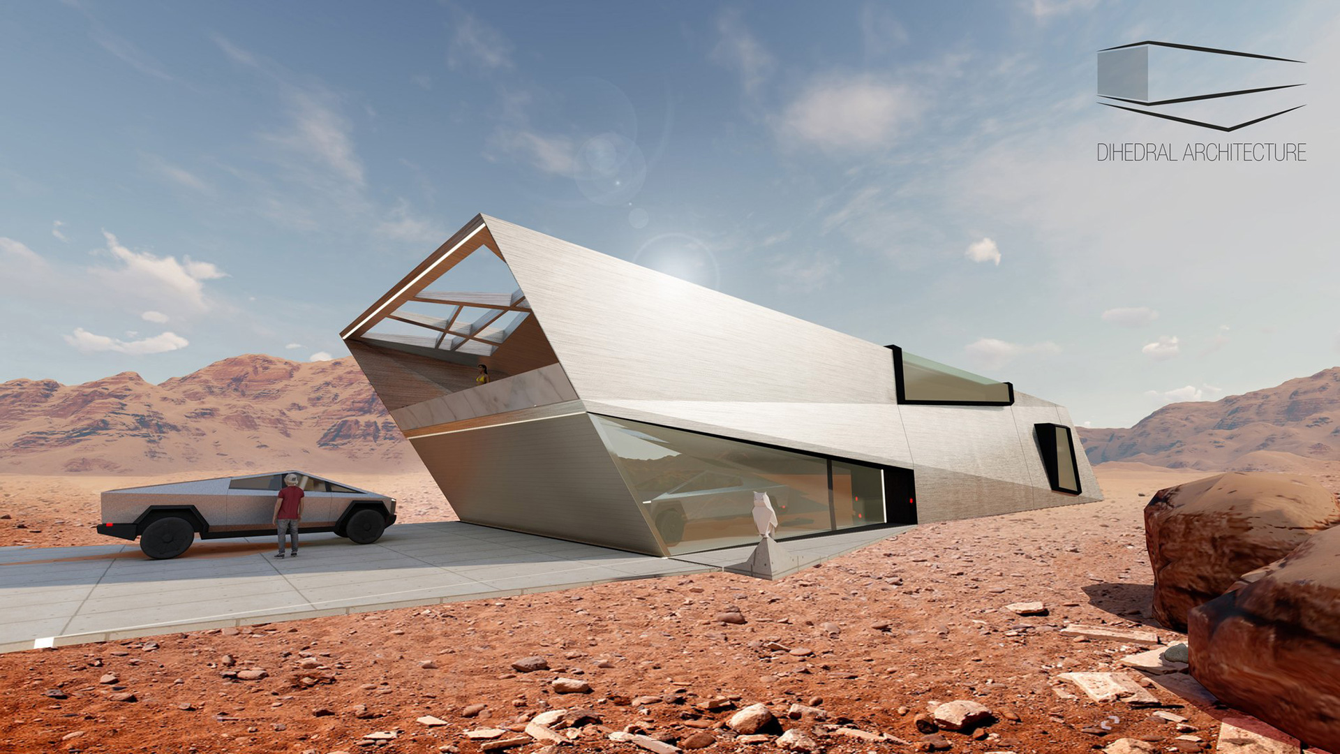 Cyberhaus designed by Dihedral architecture, with sharp angles unlike conventional homes | Cybunker |Lars Büro | STIRworld