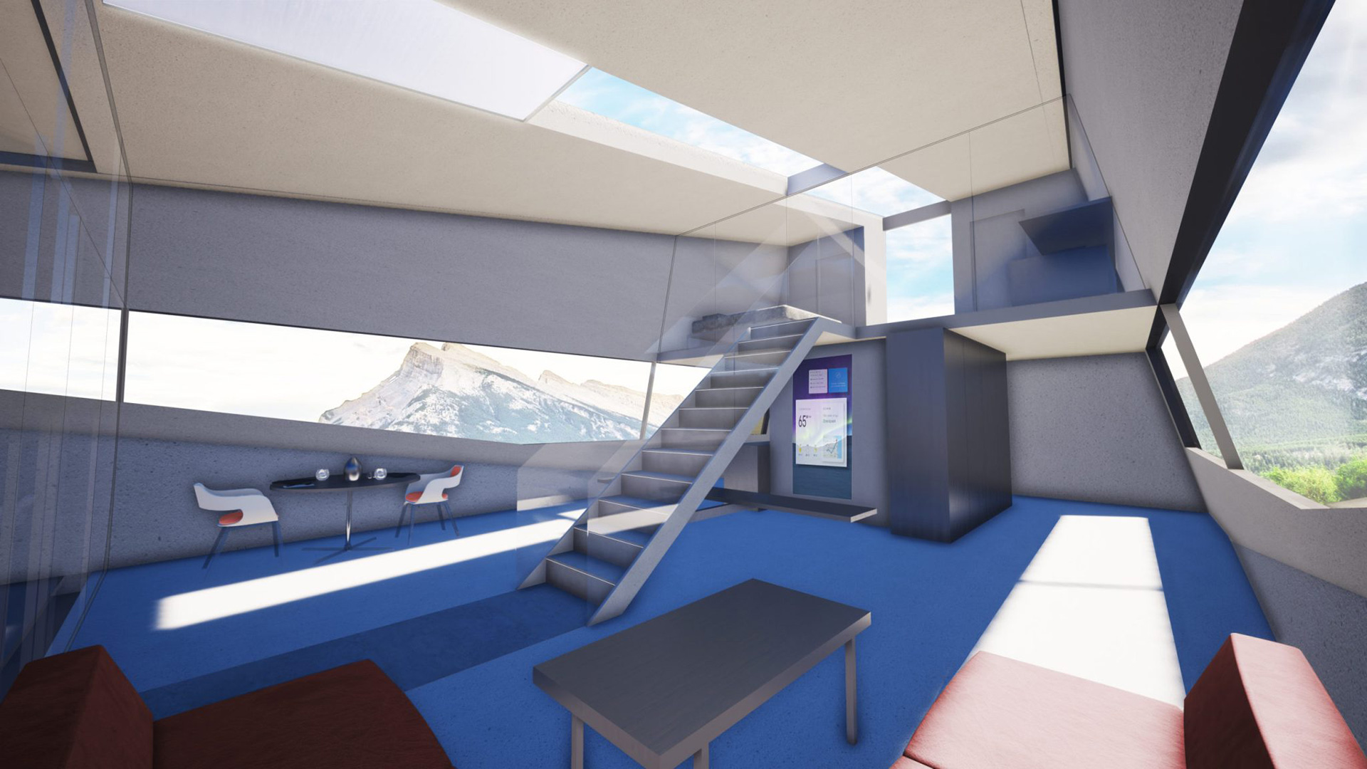 An envisioned living space inside Cybunker | Cybunker |Lars Büro | STIRworld