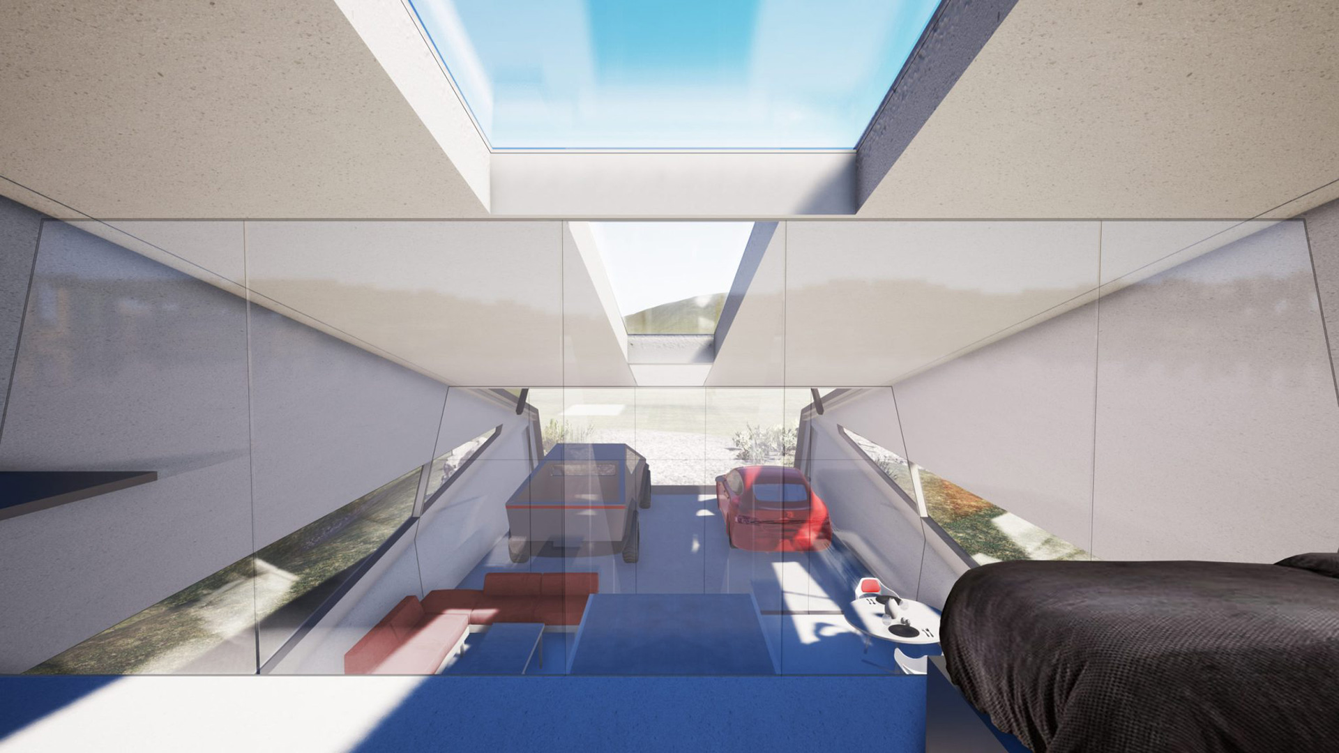 The Cybunker also has a loft that can serve as additional storage area | Cybunker |Lars Büro | STIRworld