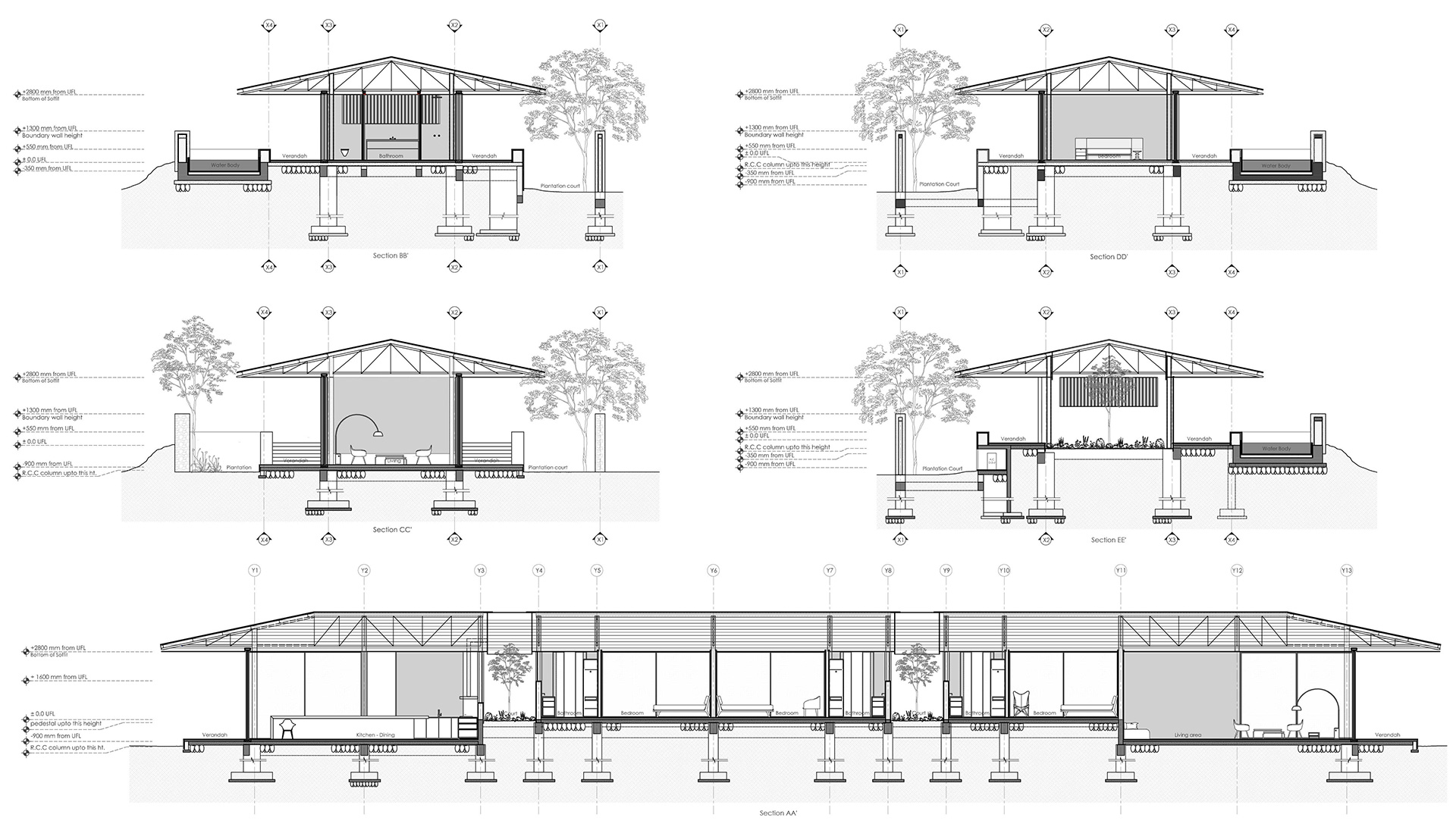 Parikrama House - Section | Parikrama House | SPASM Design Architects | STIRworld