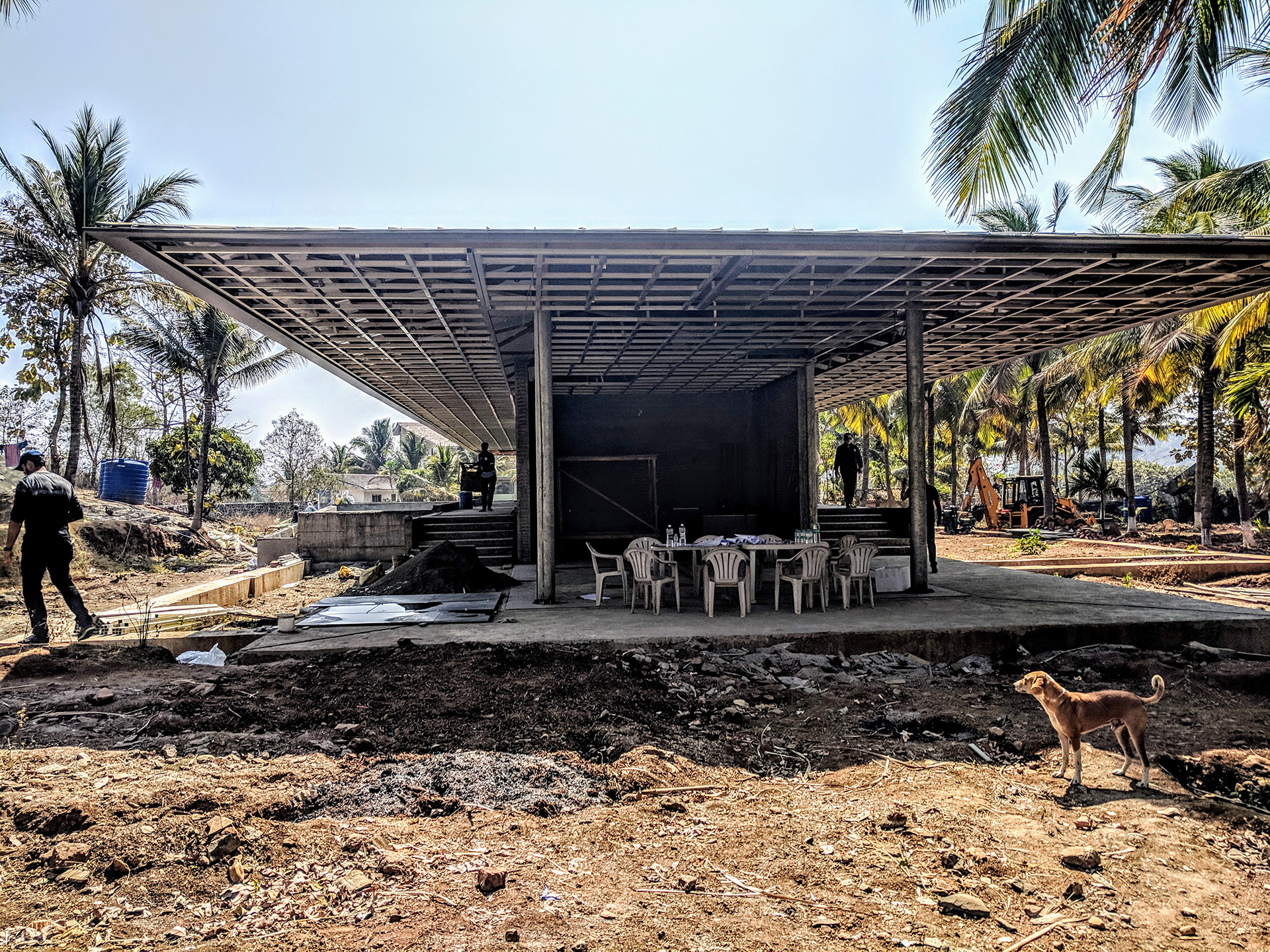 The house under construction | Parikrama House | SPASM Design Architects | STIRworld